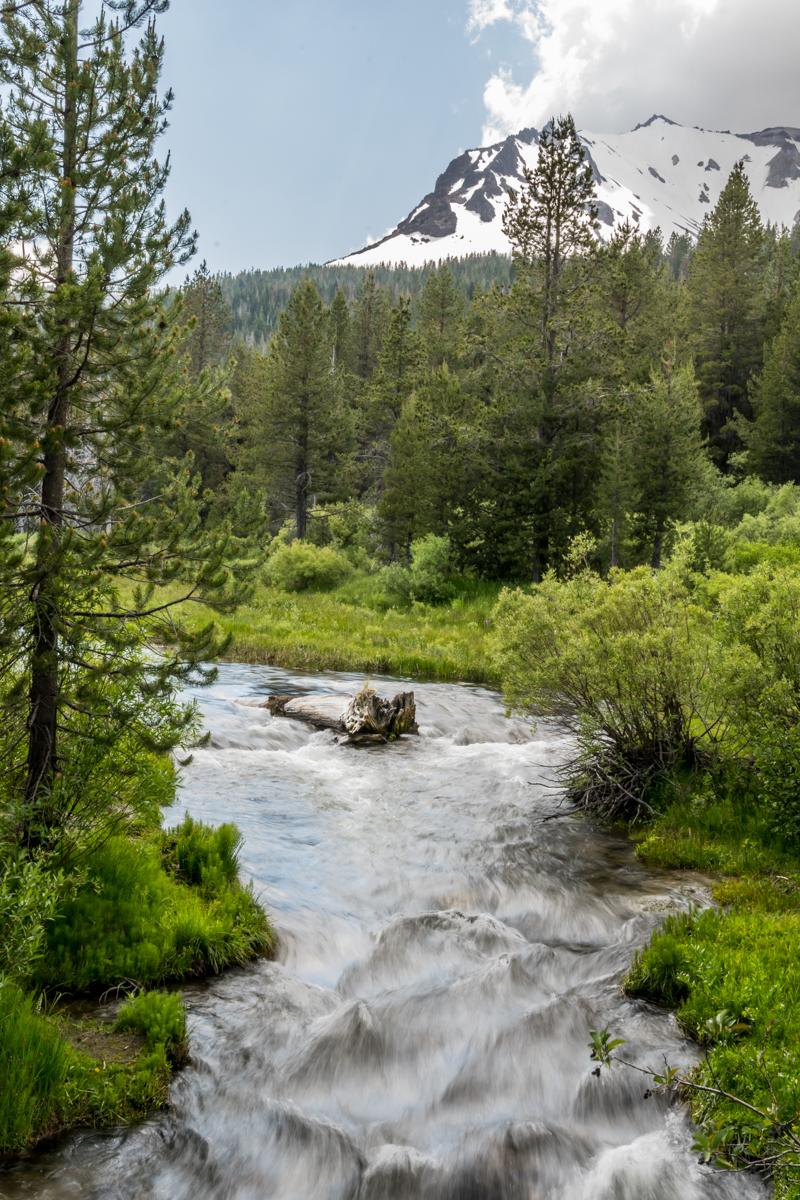 Water Rushes Underneath Lassen Peak