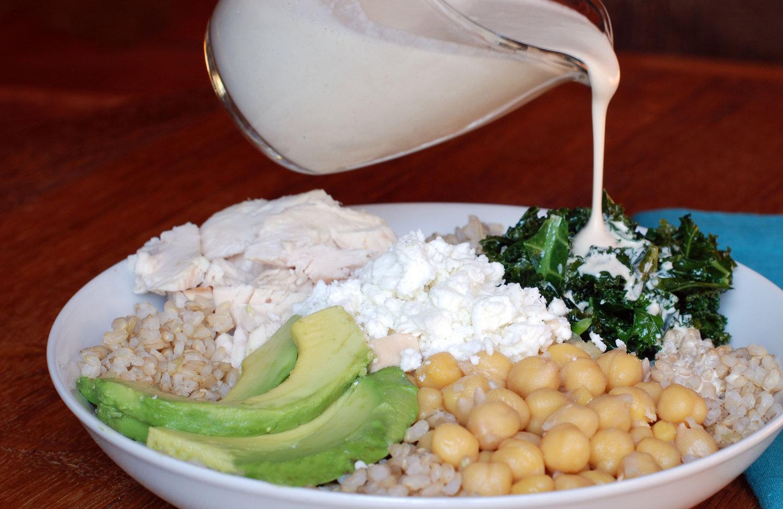 Brown Rice bowl with Lemon Tahini Sauce.jpg