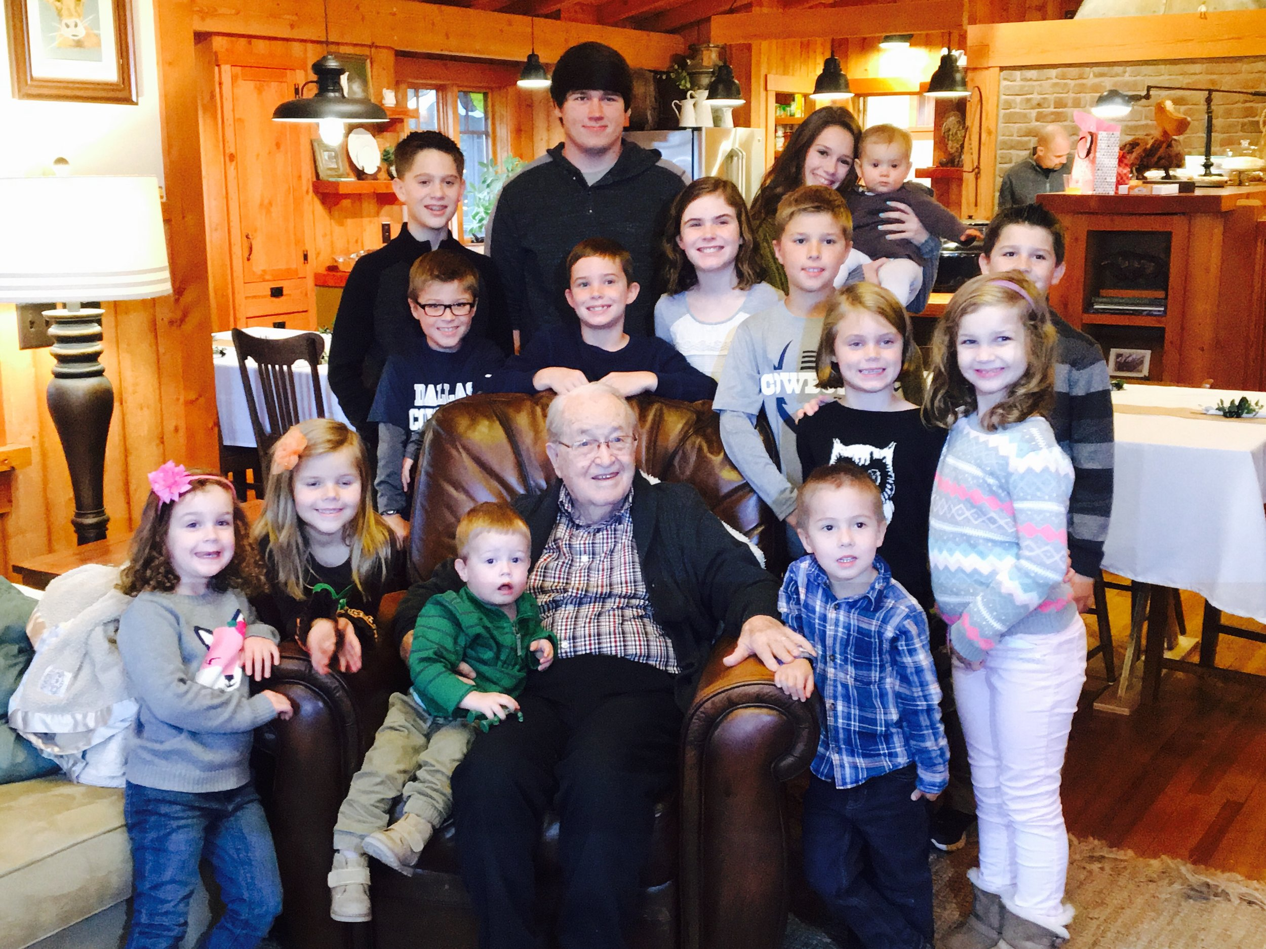 Dad and all 15 of his great grandchildren