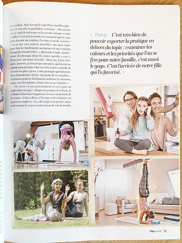 Yoga Journal France parle de INNERCITYOGA et son organisation comme entreprise familiale à Genève en Suisse. Toutes photos par  Patric Pop Photo , Geneve