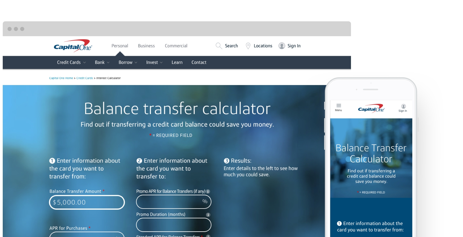 capital one balance transfer to bank account