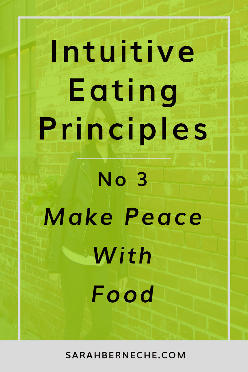 Intuitive eating principles | Body image | Emotional eating | Body positive | Beauty beyond size | Intuitive Eating Principle No. 3 - How to Make Peace with ALL foods.