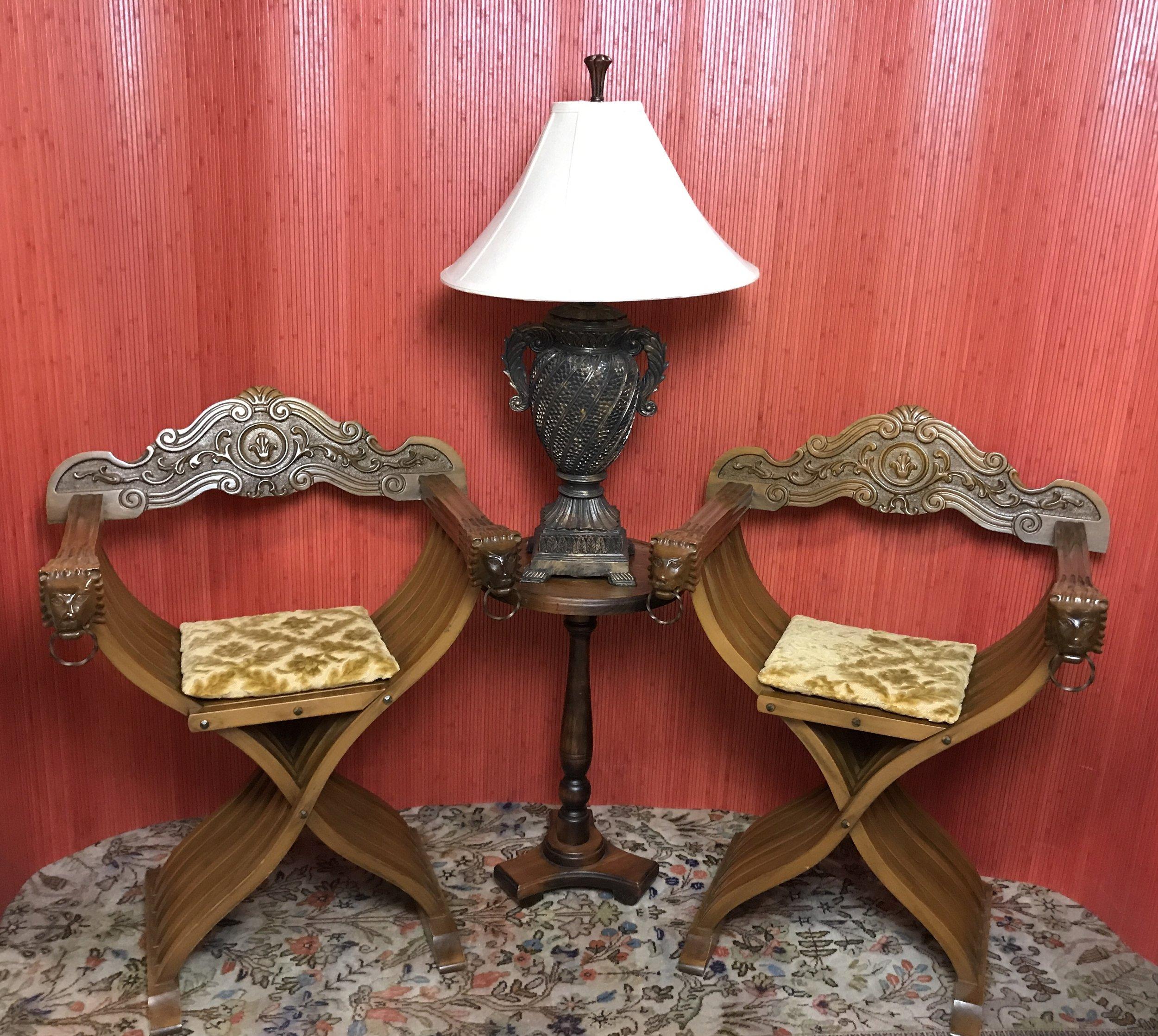 Folding Savonarola Chairs $399.95 C0938  -   19000