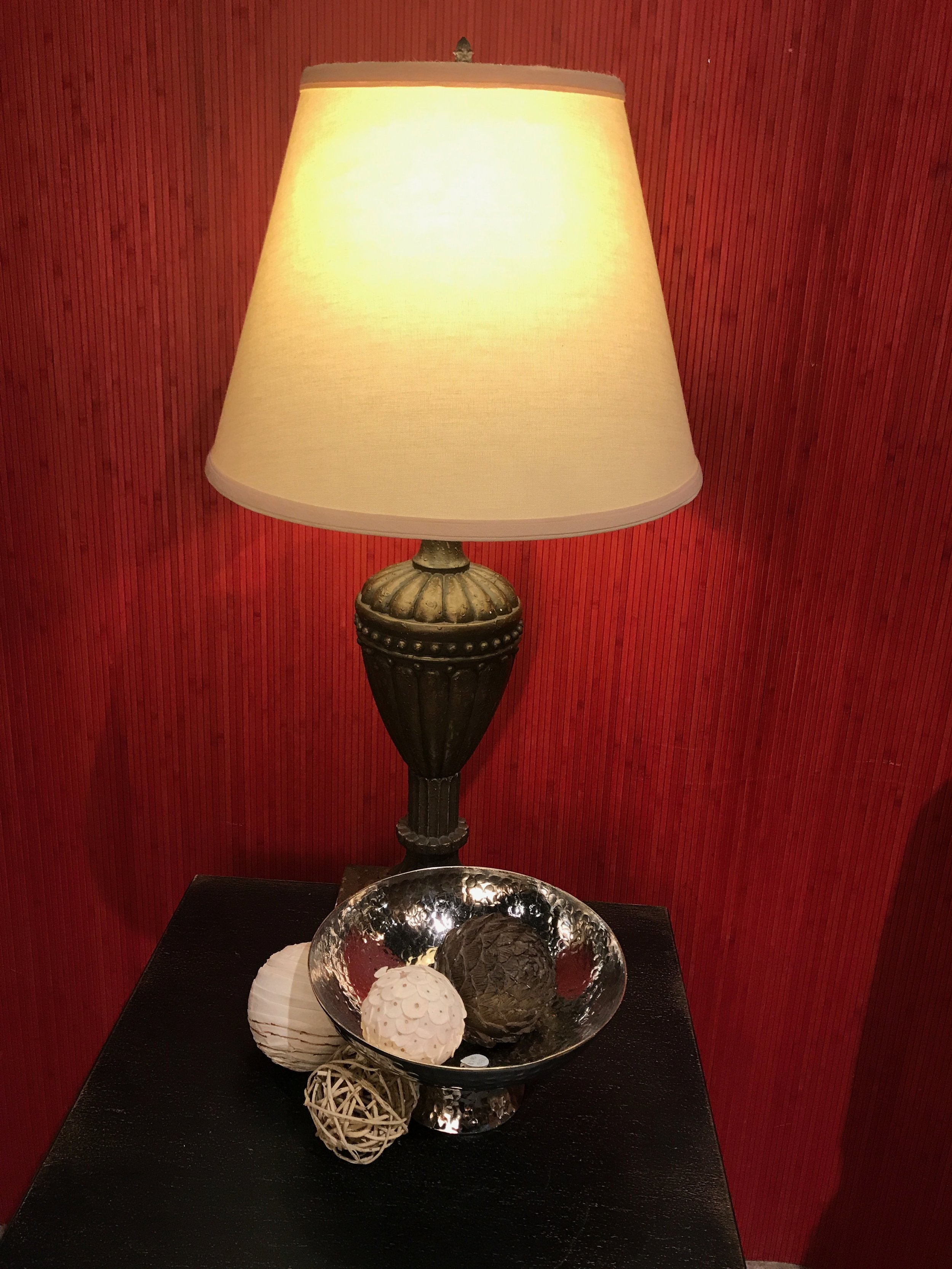 Brown Lamp with Cream Shade $59.95 13211
