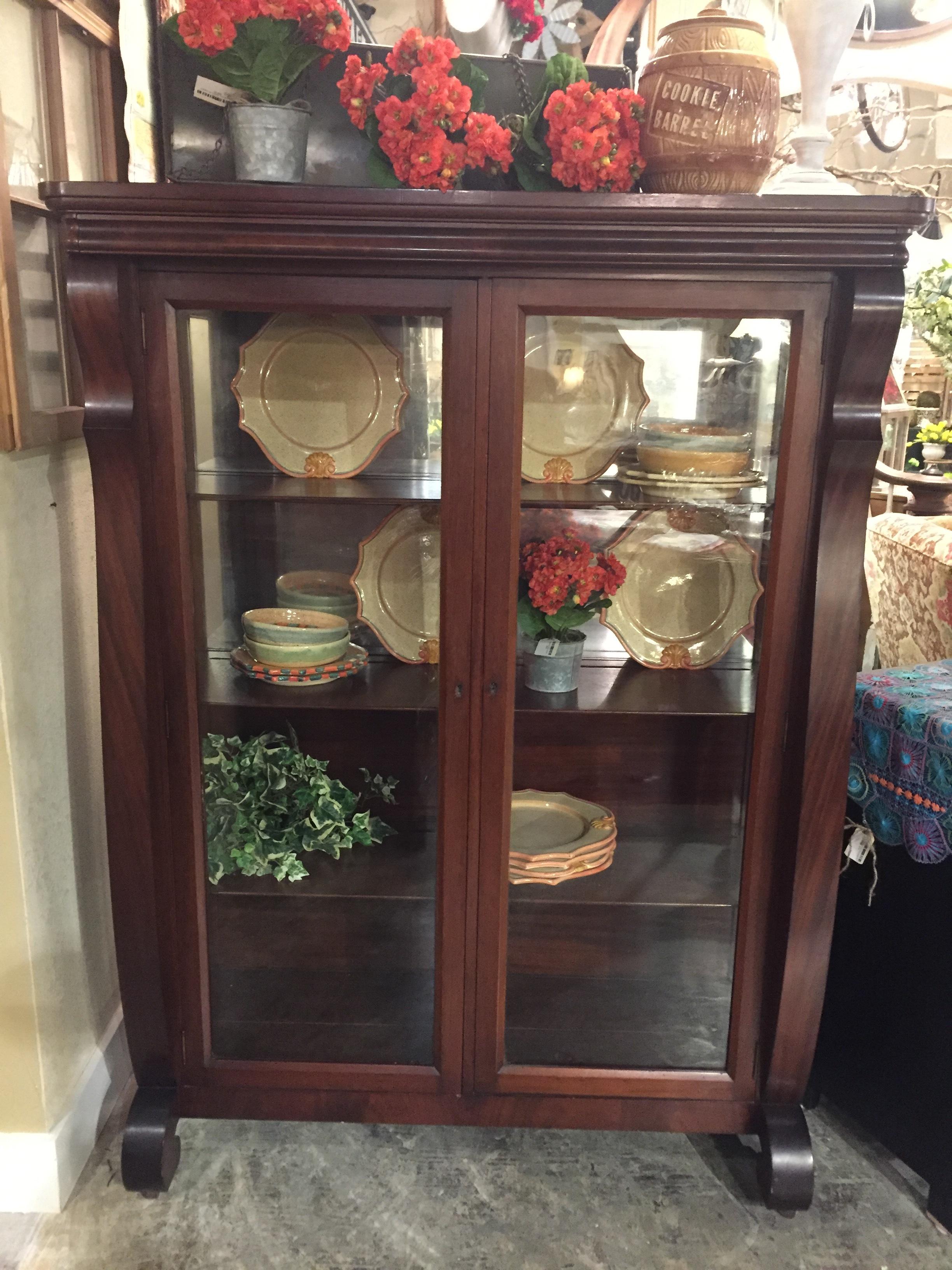 Mahogany Antique Display Cabinet $649.95 C1017