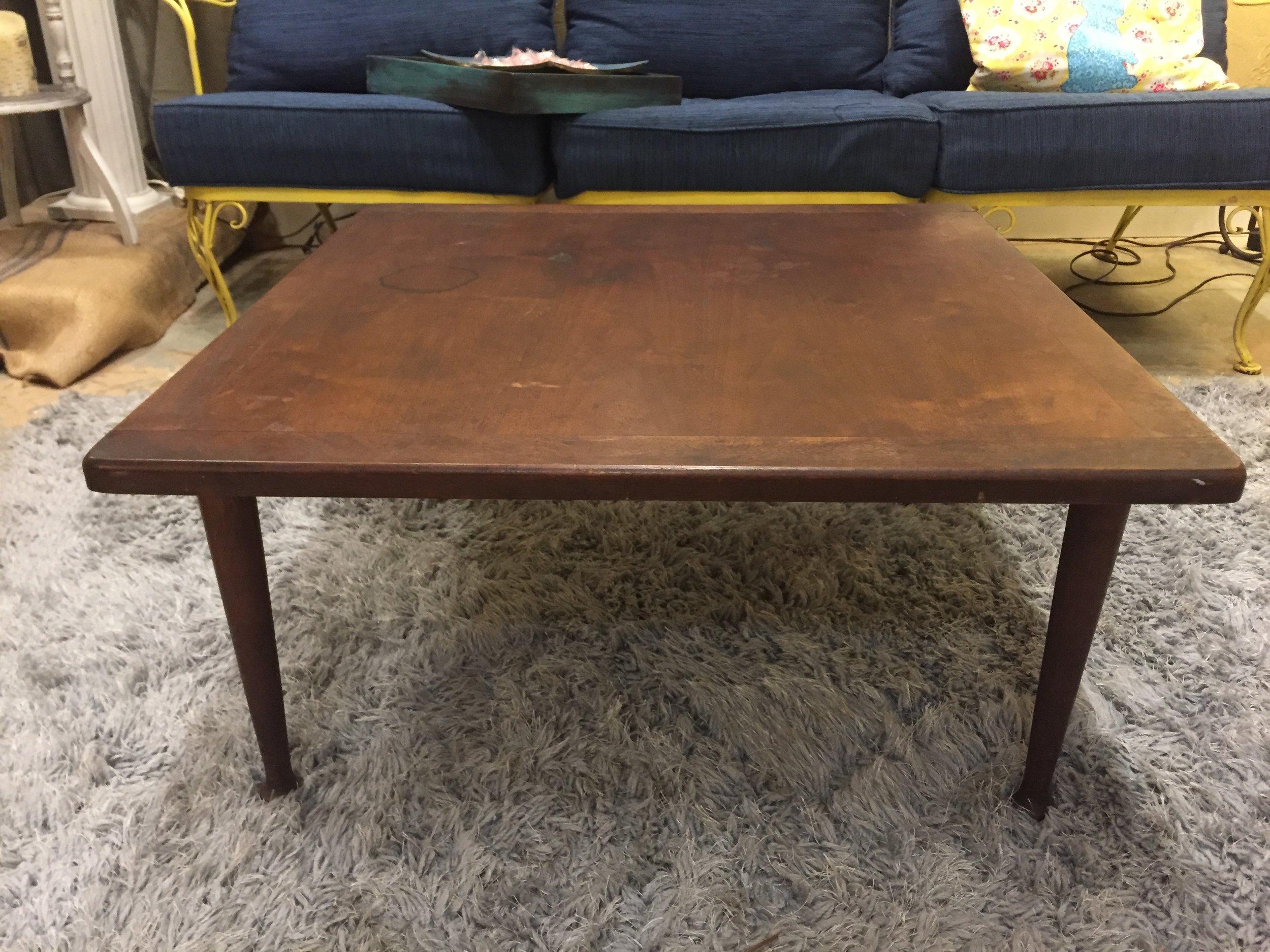 SOLD! Dark Wood Coffee Table $29.95 - C0913 21964