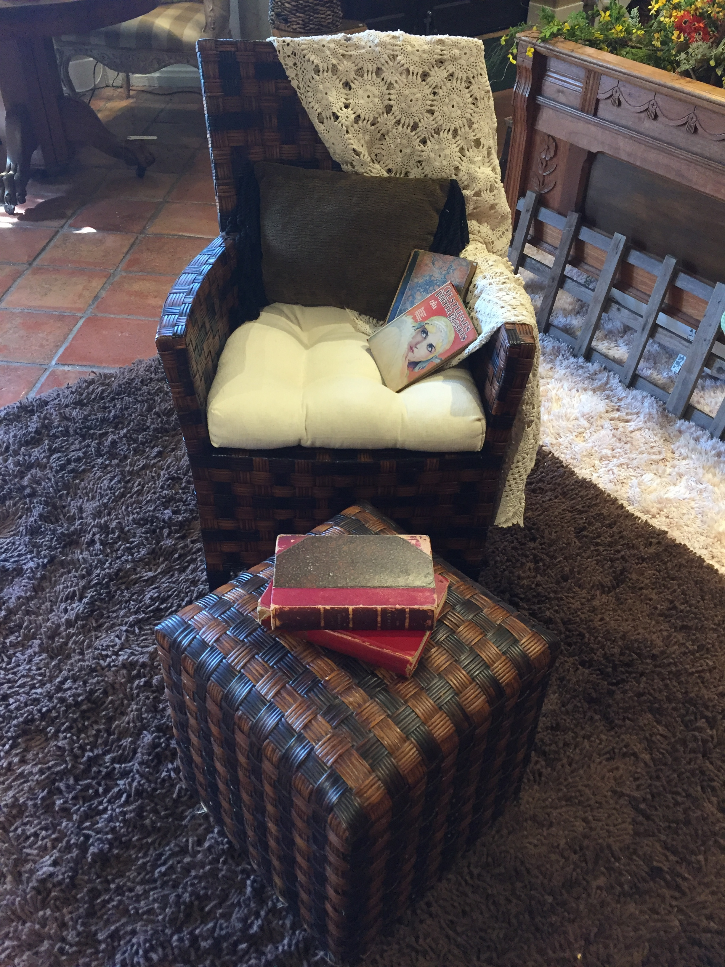 Wicker Chair with Ottoman $229.95 - C0565 21985
