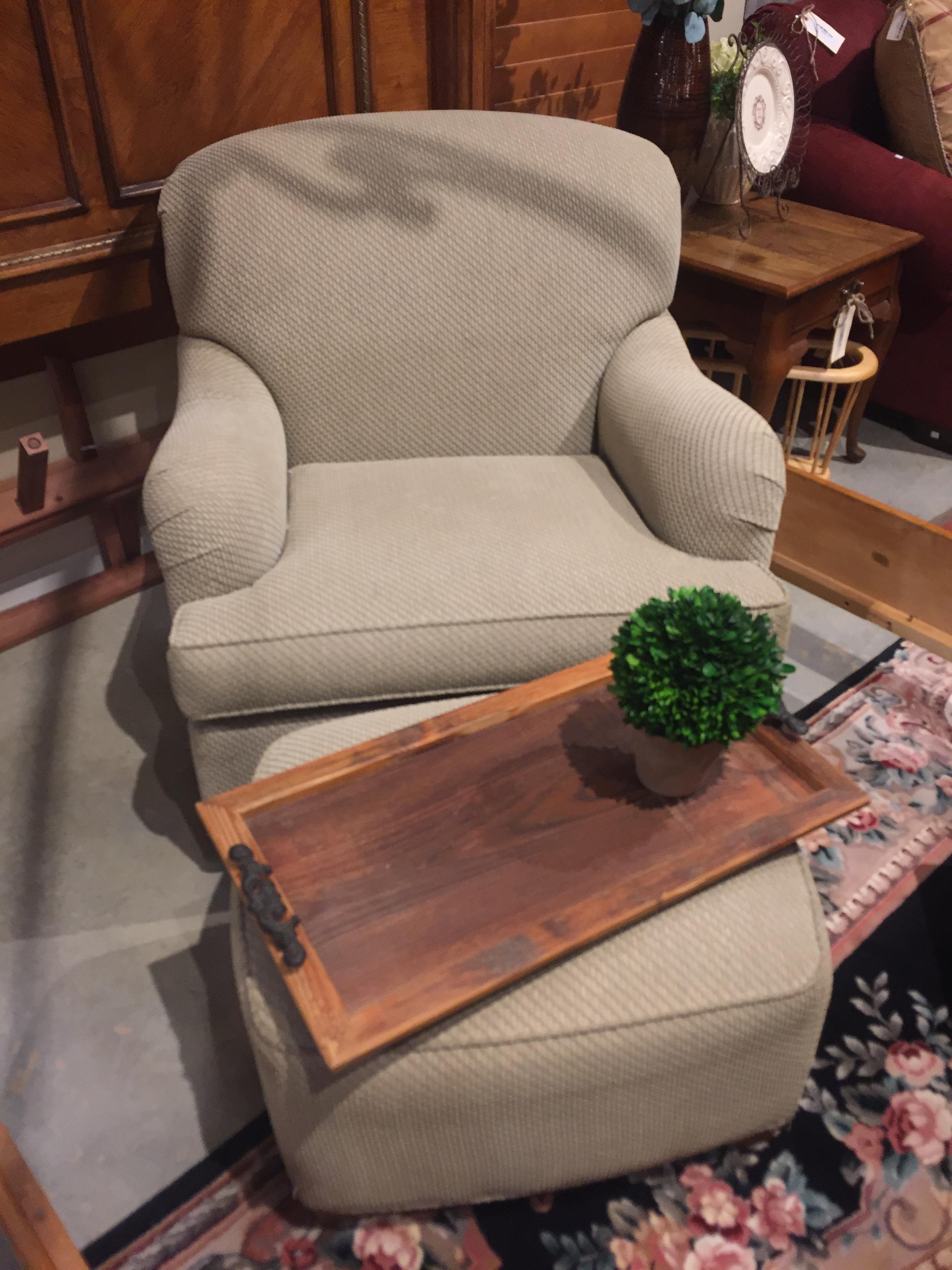 Ethan Allen Chair & Ottoman $549.95 - C1004 22085