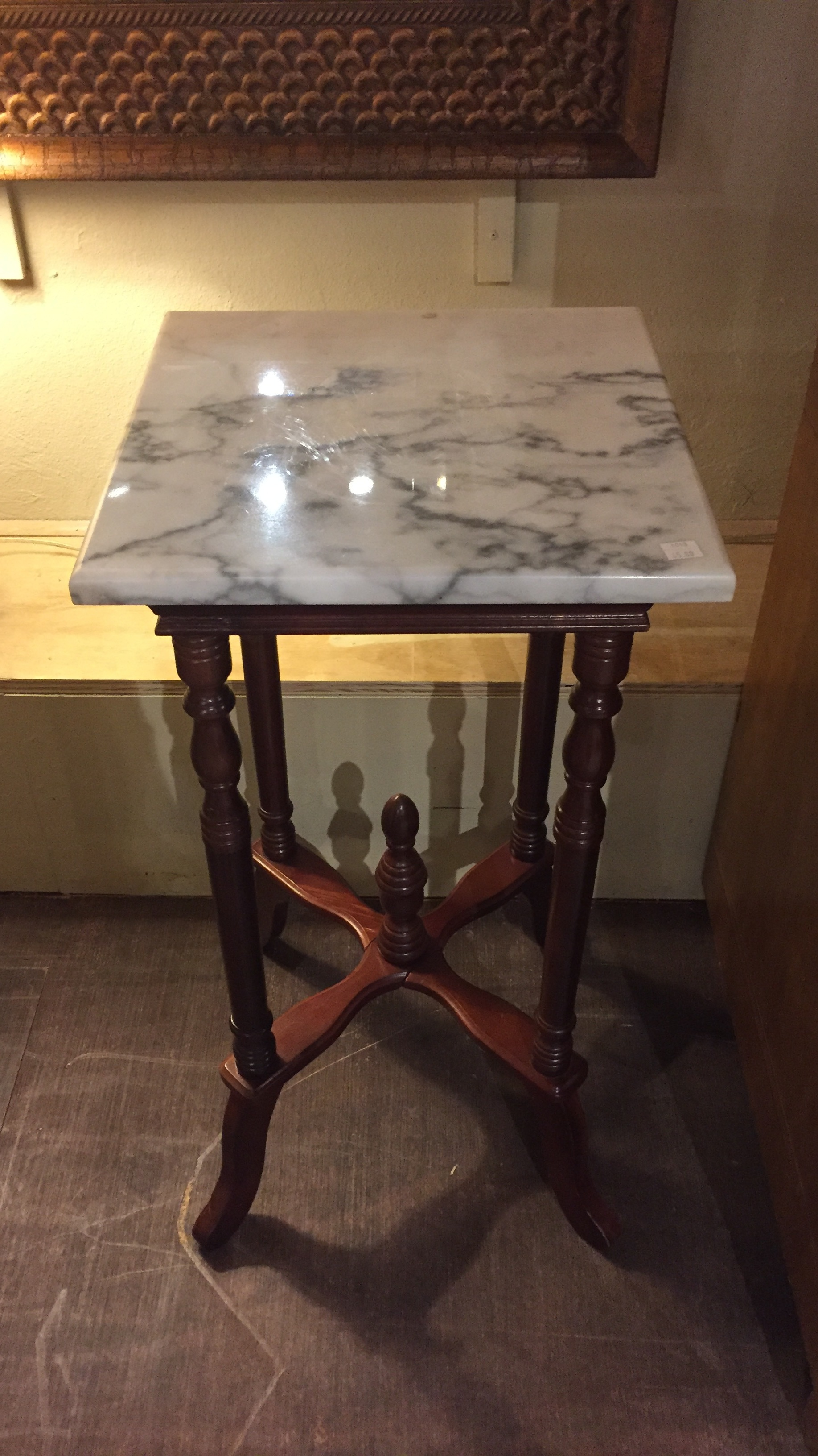 Marble Top Lamp Table $59.95 - C1043 22506
