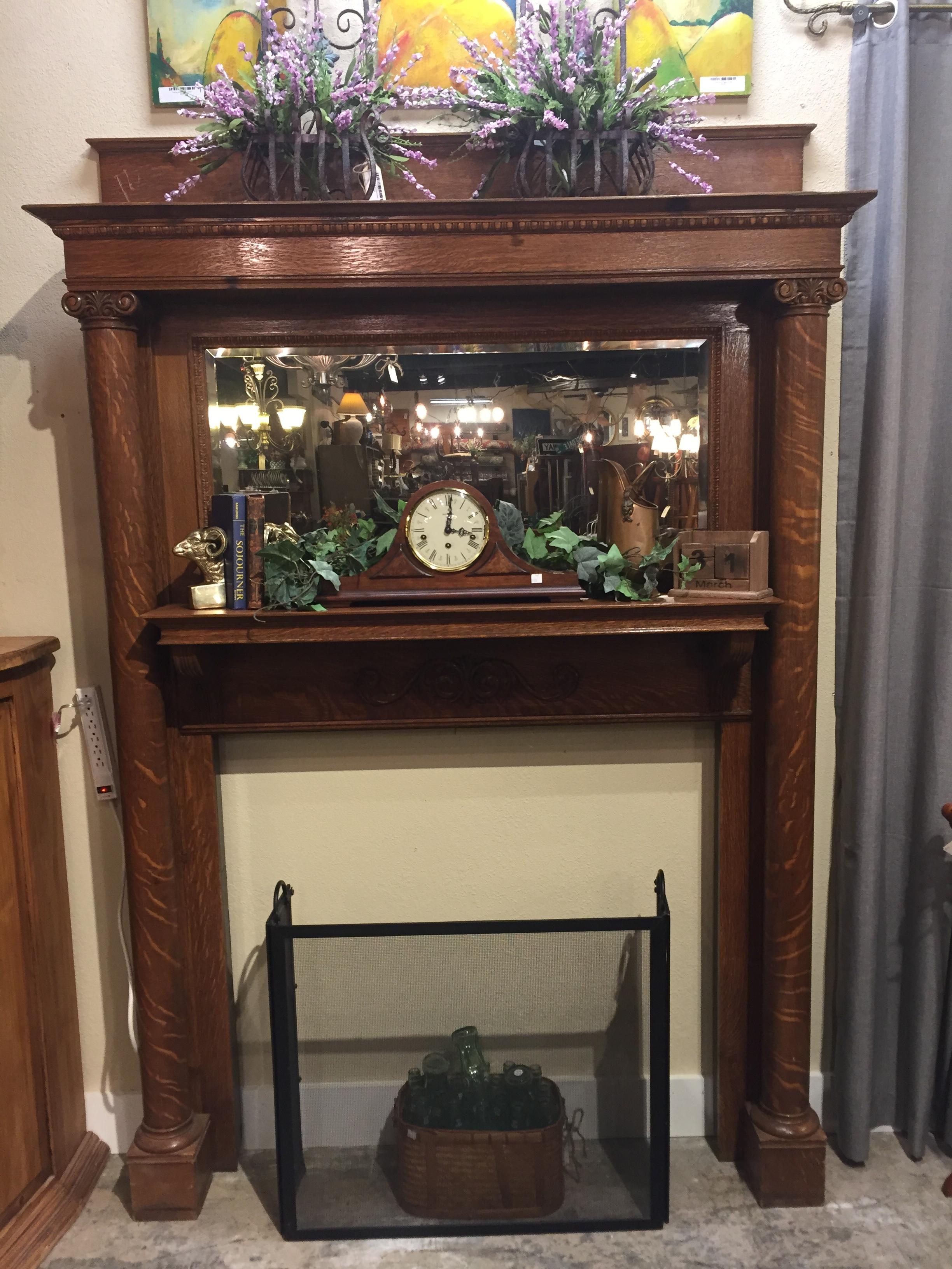 Tiger Oak Mantle $1,595.95 - C0991 19851
