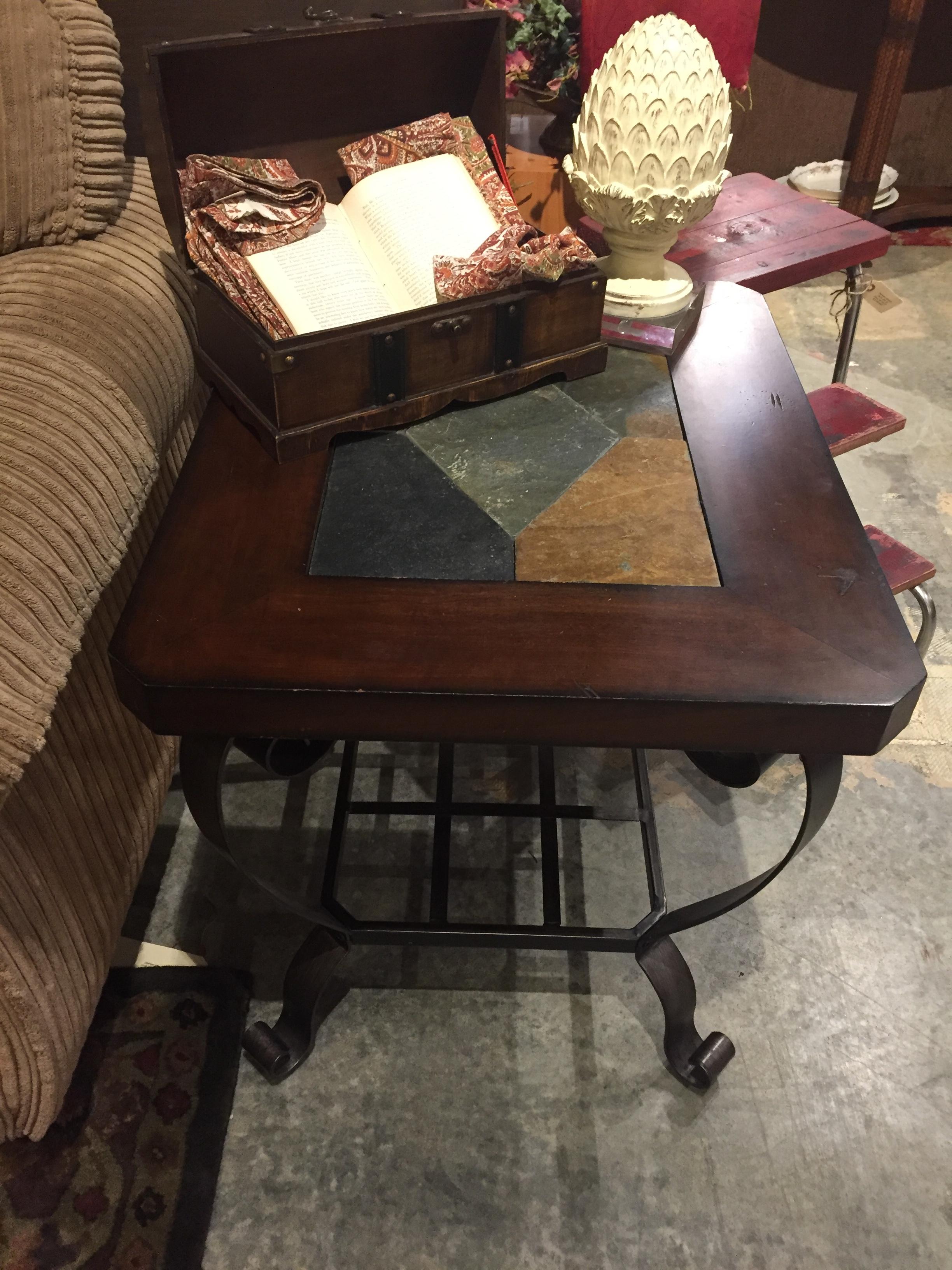 Slate Top End Table $79.95 - C1054 22746