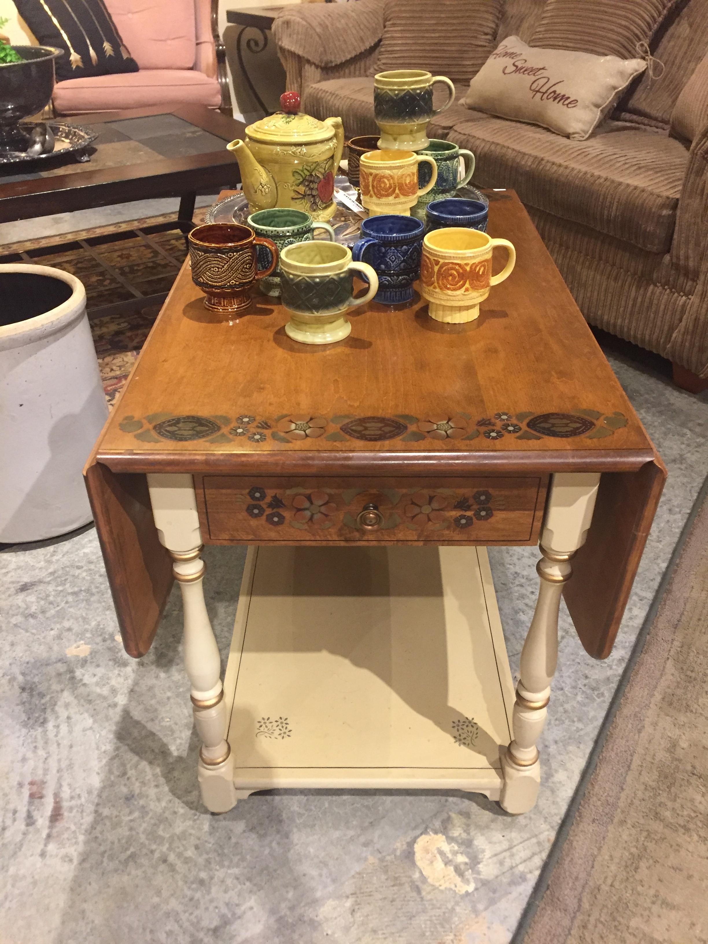 Cream Wood Cart Table $89.95 - C1038 22789