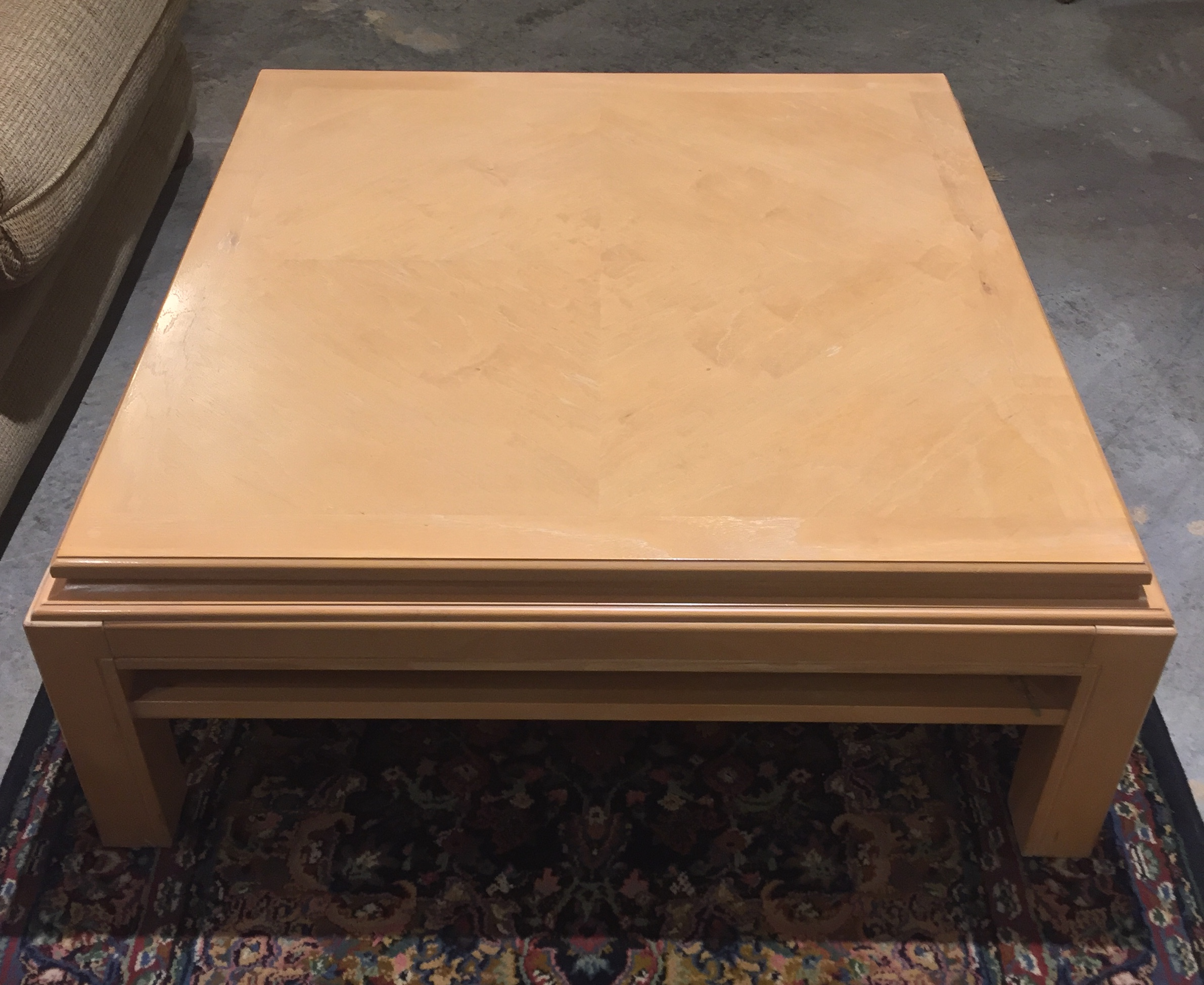 Blonde Square Coffee Table $119.95 - C1077 22916