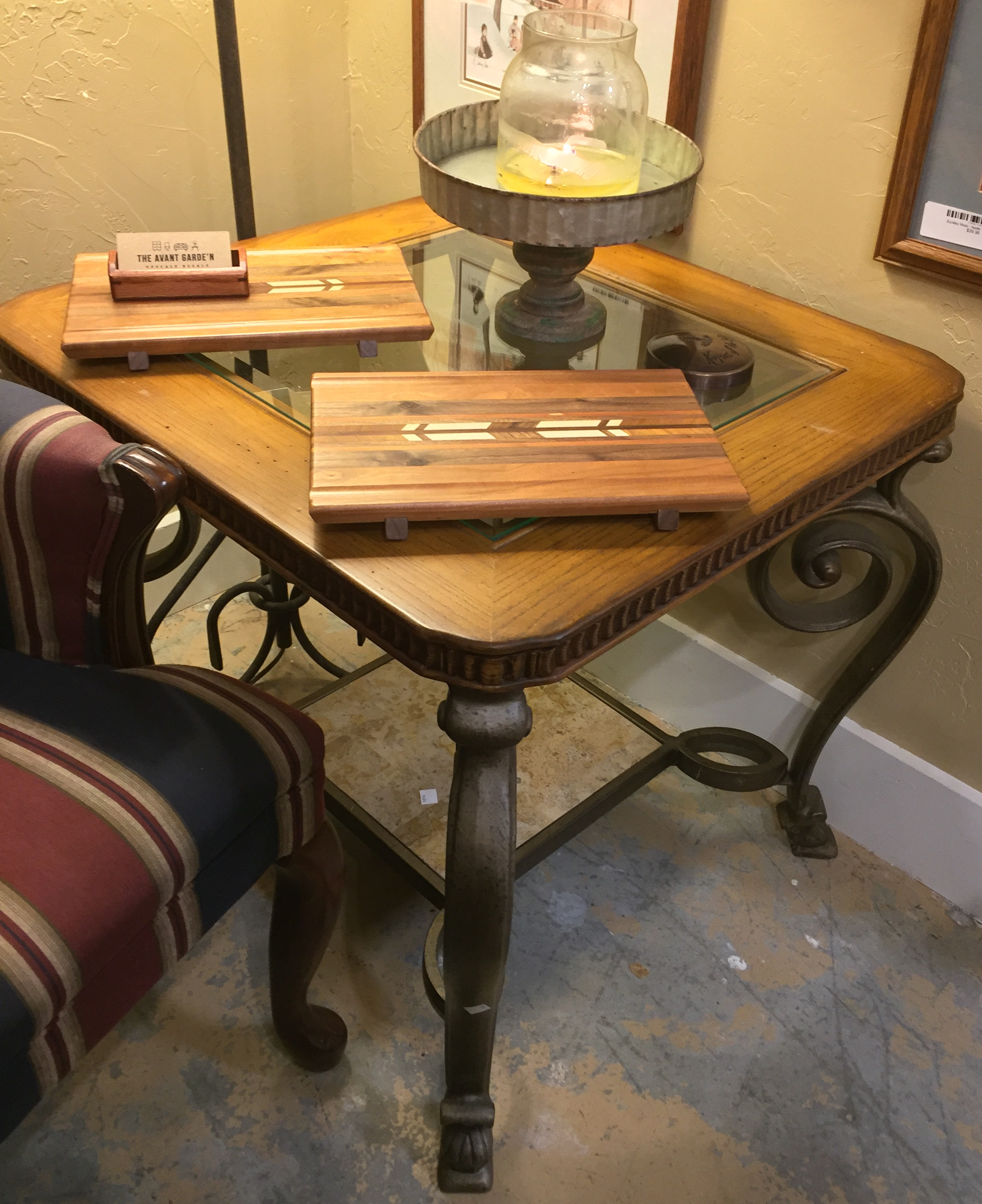 Metal Base Side Table $99.95 - C1074 23103