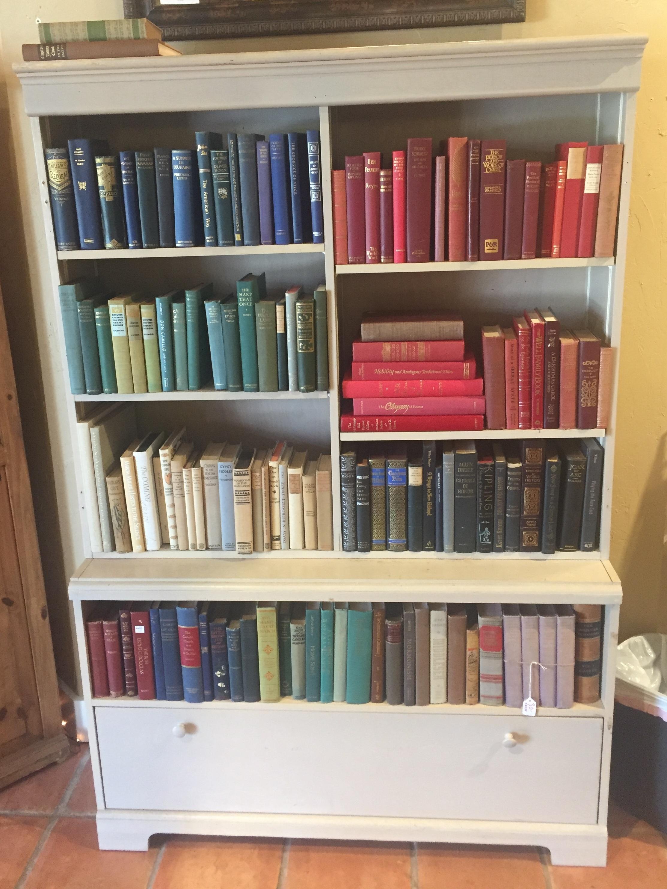 SOLD! Cream Bookshelf $189.95 - C1105 23734