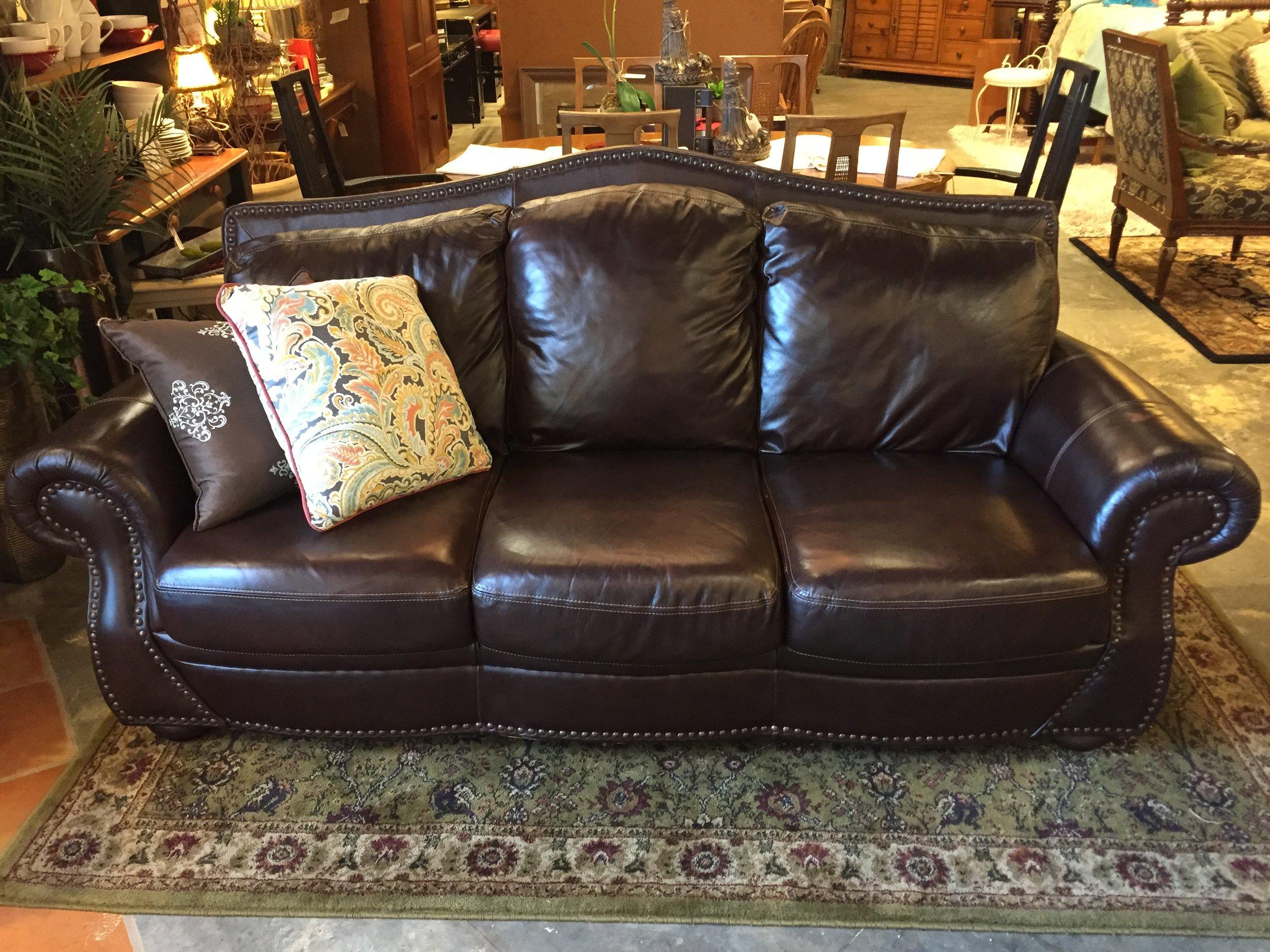 Brown Leather Sofa $799.95 - C1108 23737