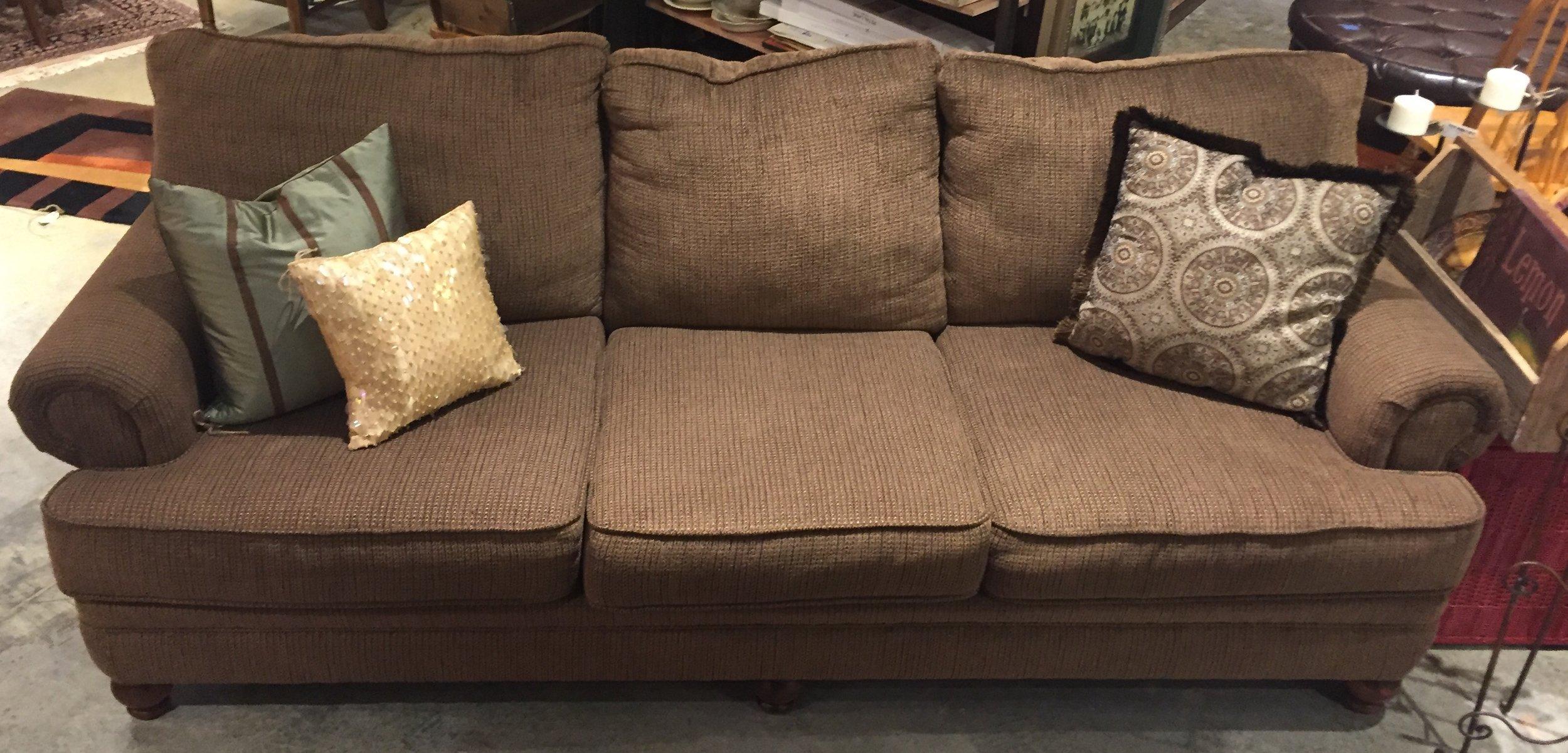 Brown Tweed Sofa - $449.95 C1054