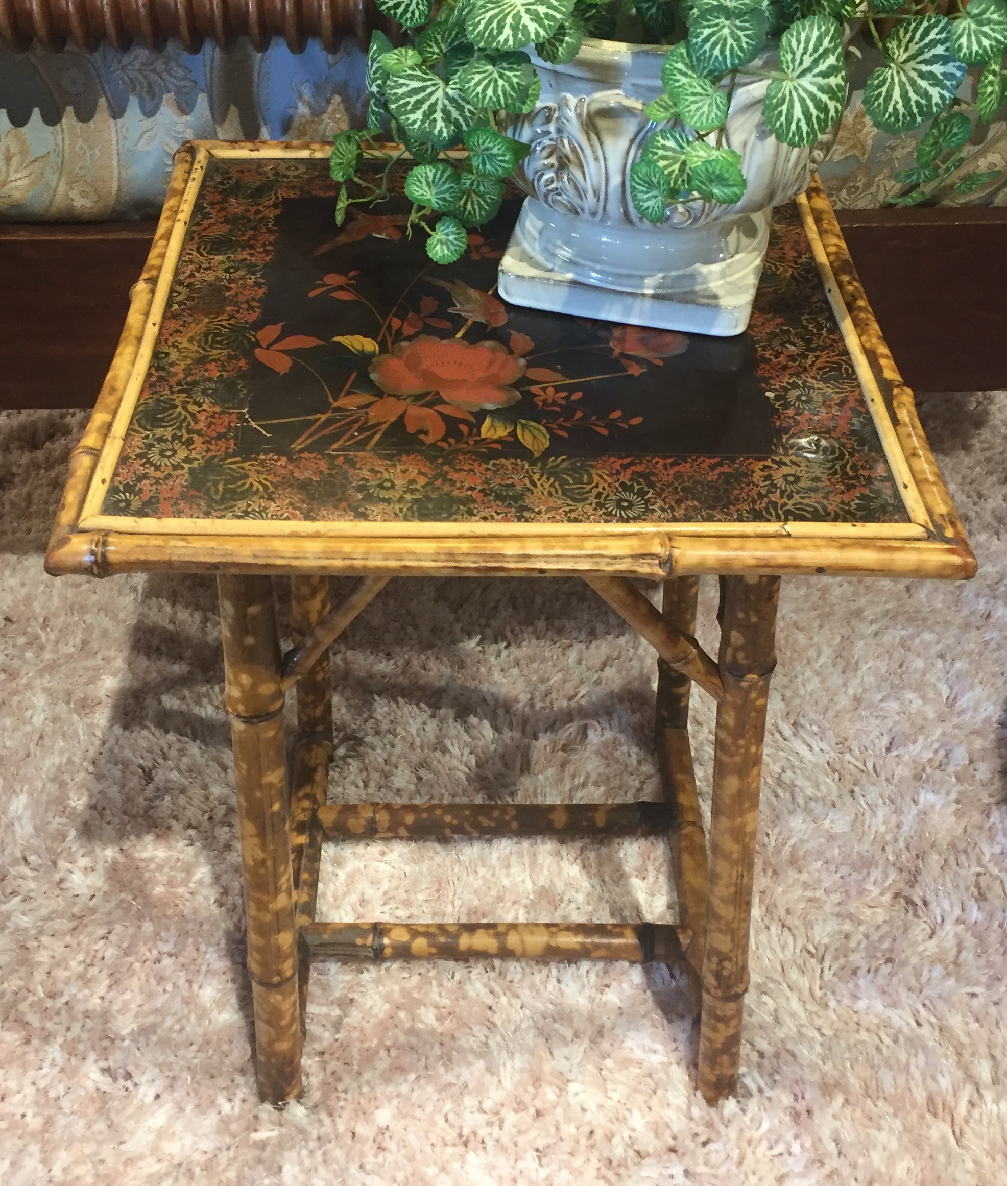 Small Floral Side Table $59.95 - C1107 24223