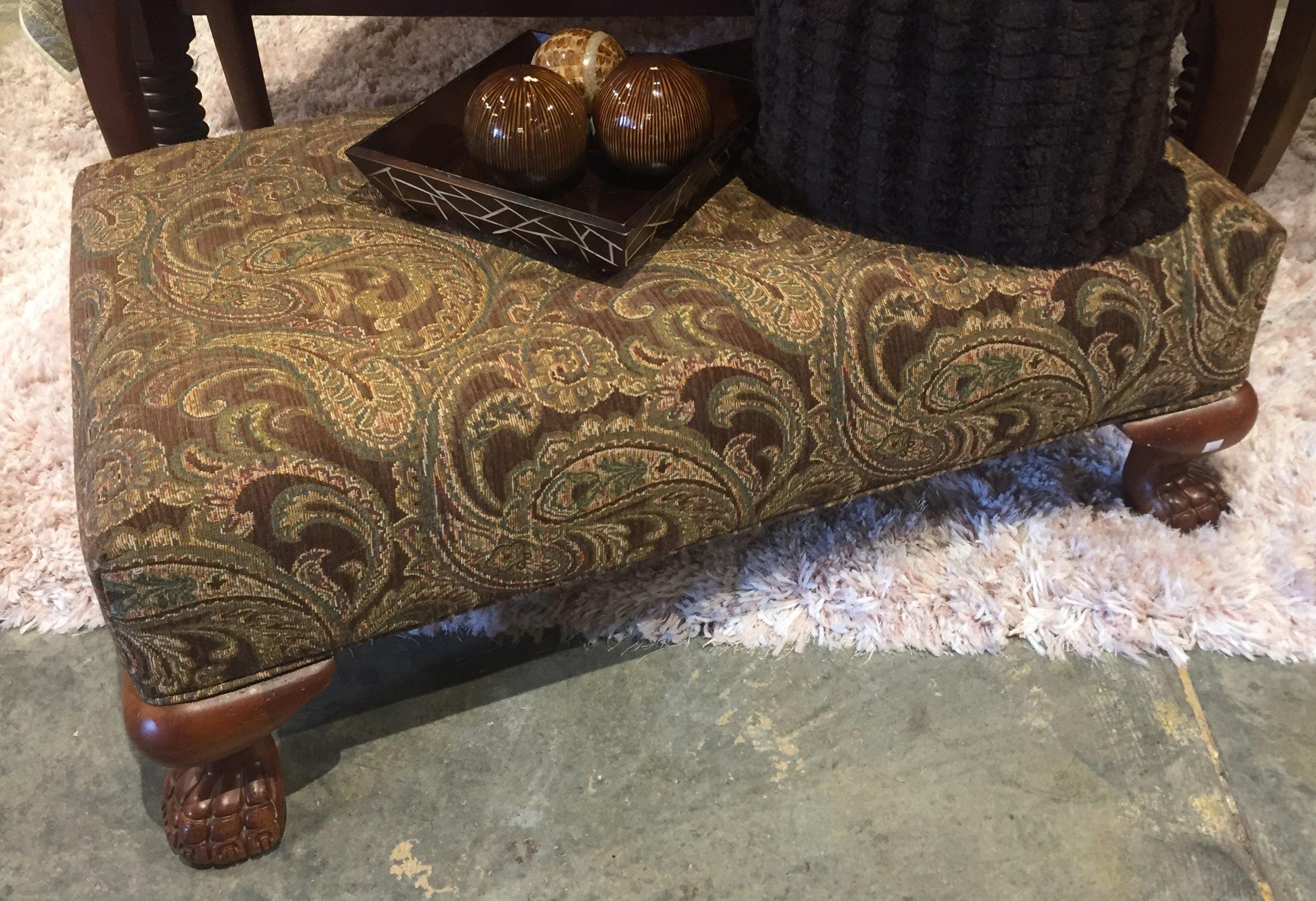 Brown Paisley Ottoman $249.95 - C1108 24768