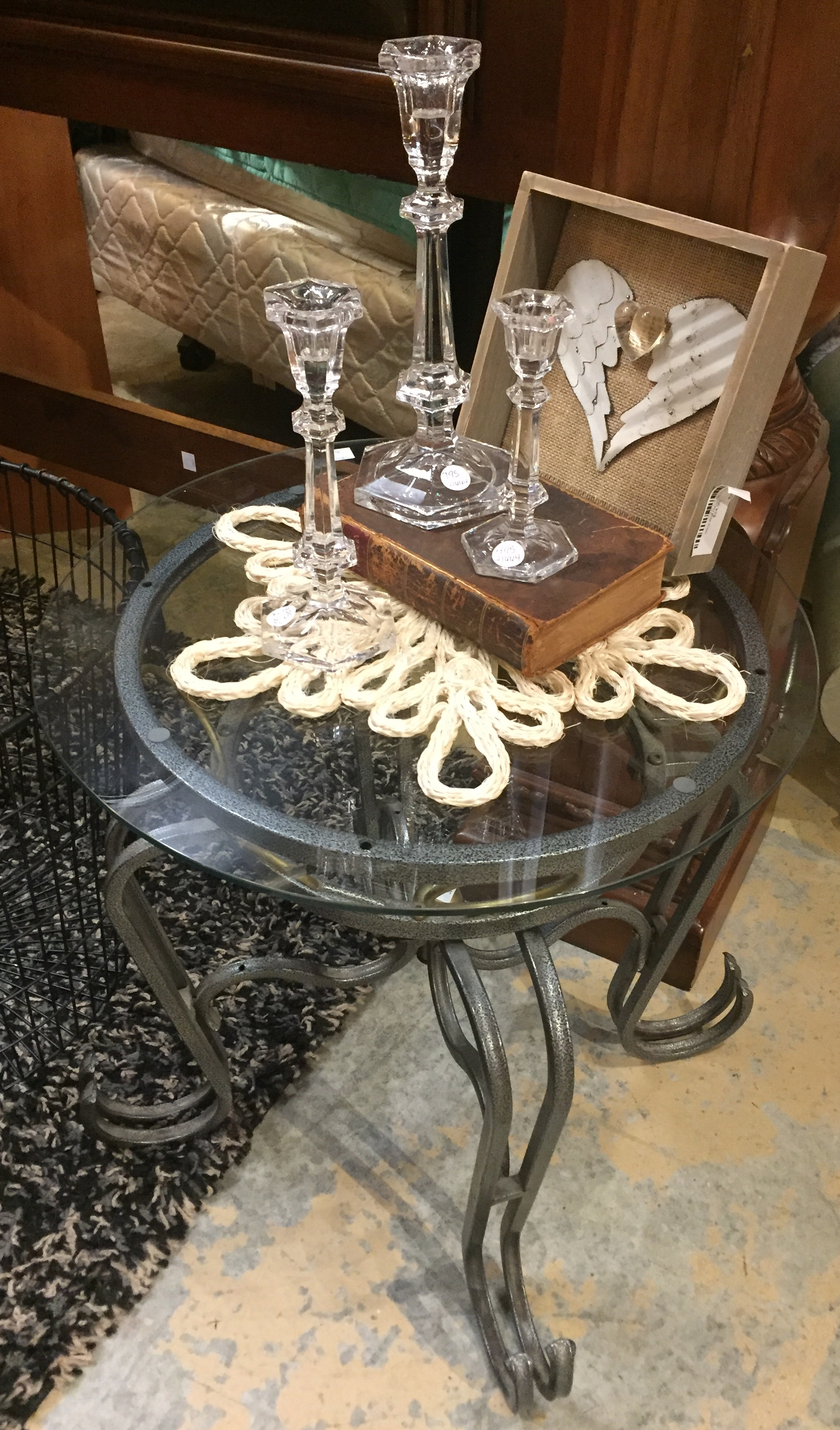 Glass Top End Table $29.95 - C1094 24916