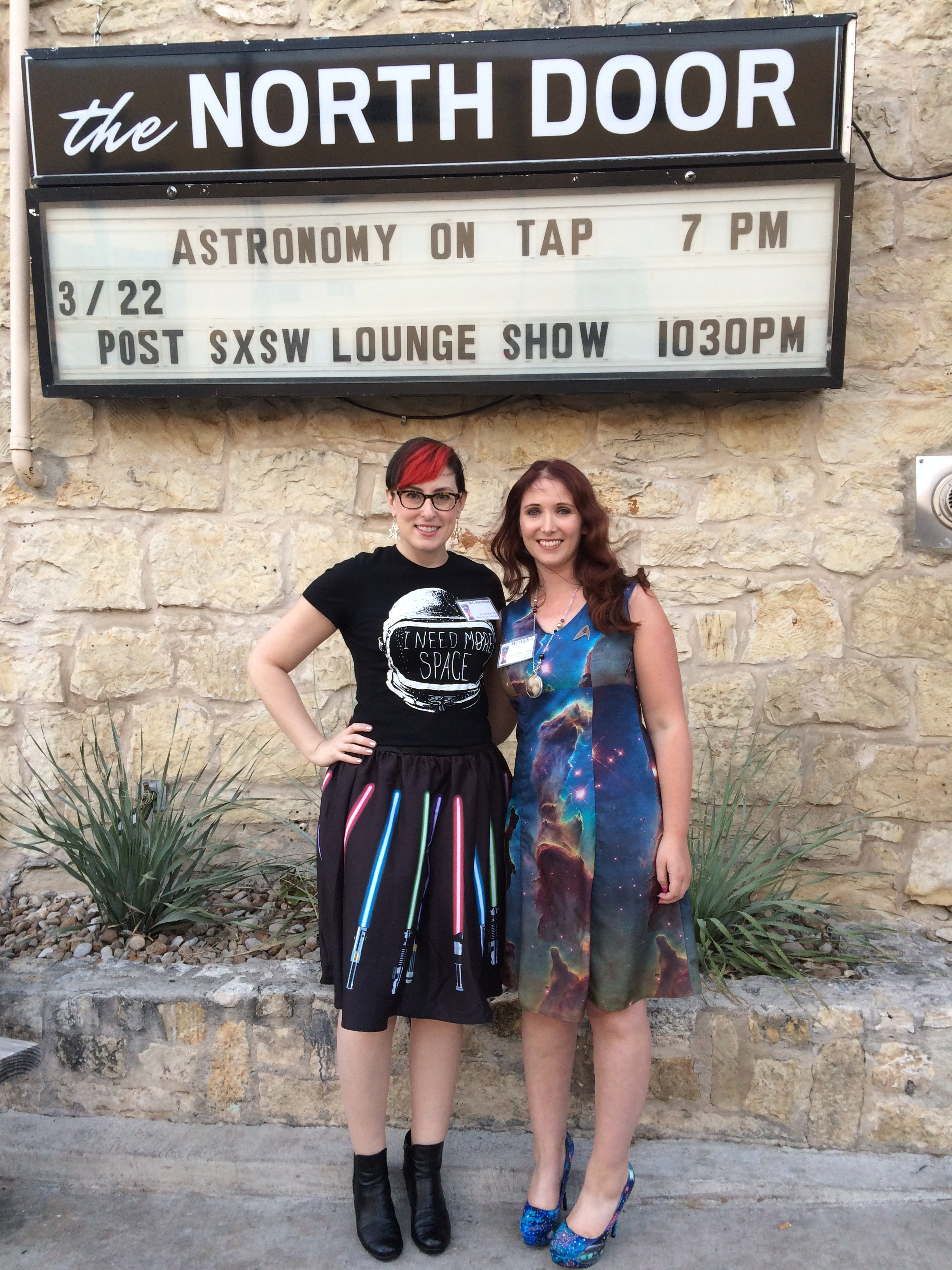 AoTAX host Rachael Livermore and me outside the evening's venue.