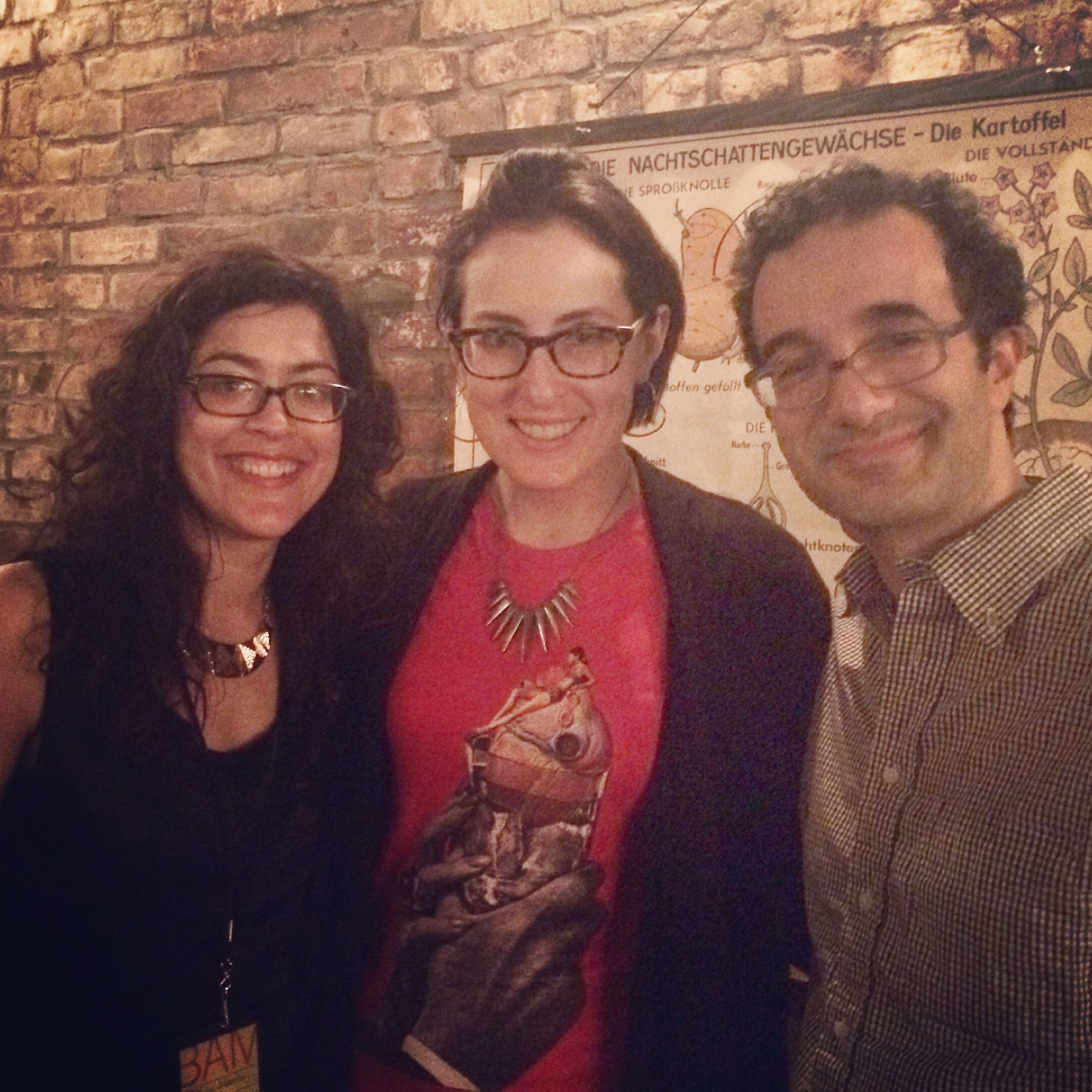 After the show with producer Molly Webster and host Jad Abumrad.