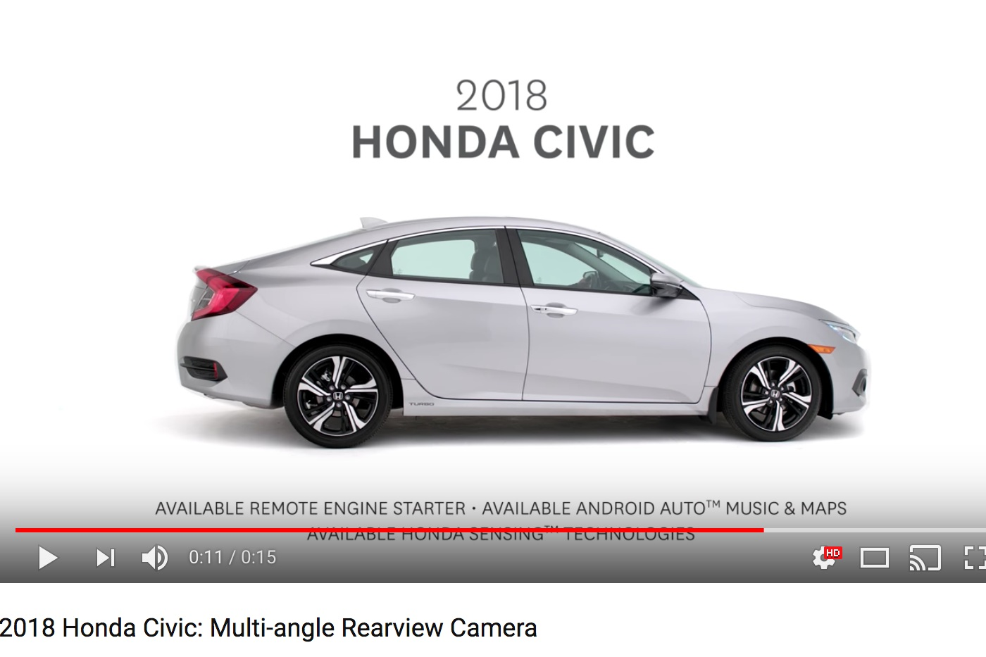 Yes…that is Sam's voice you hear on YOUTUBE when a Honda Commercial pops up!  Click Here  to see the video!