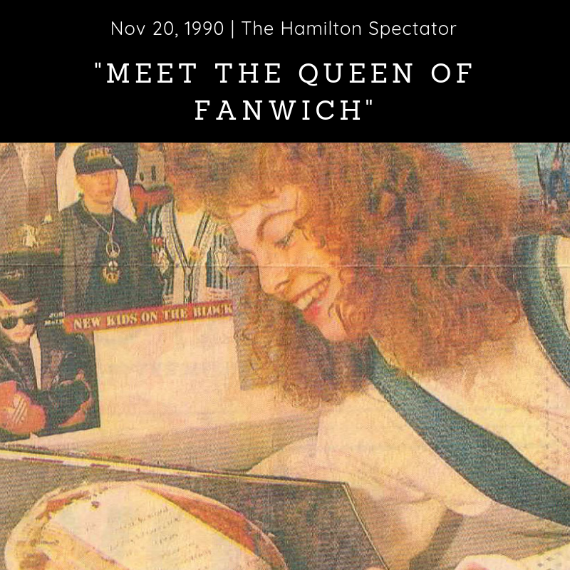 Newspaper (1990) - The Hamilton Spectator -        'Heard of the Earl of Sandwich? Meet the Queen of Fanwich' - Download Article