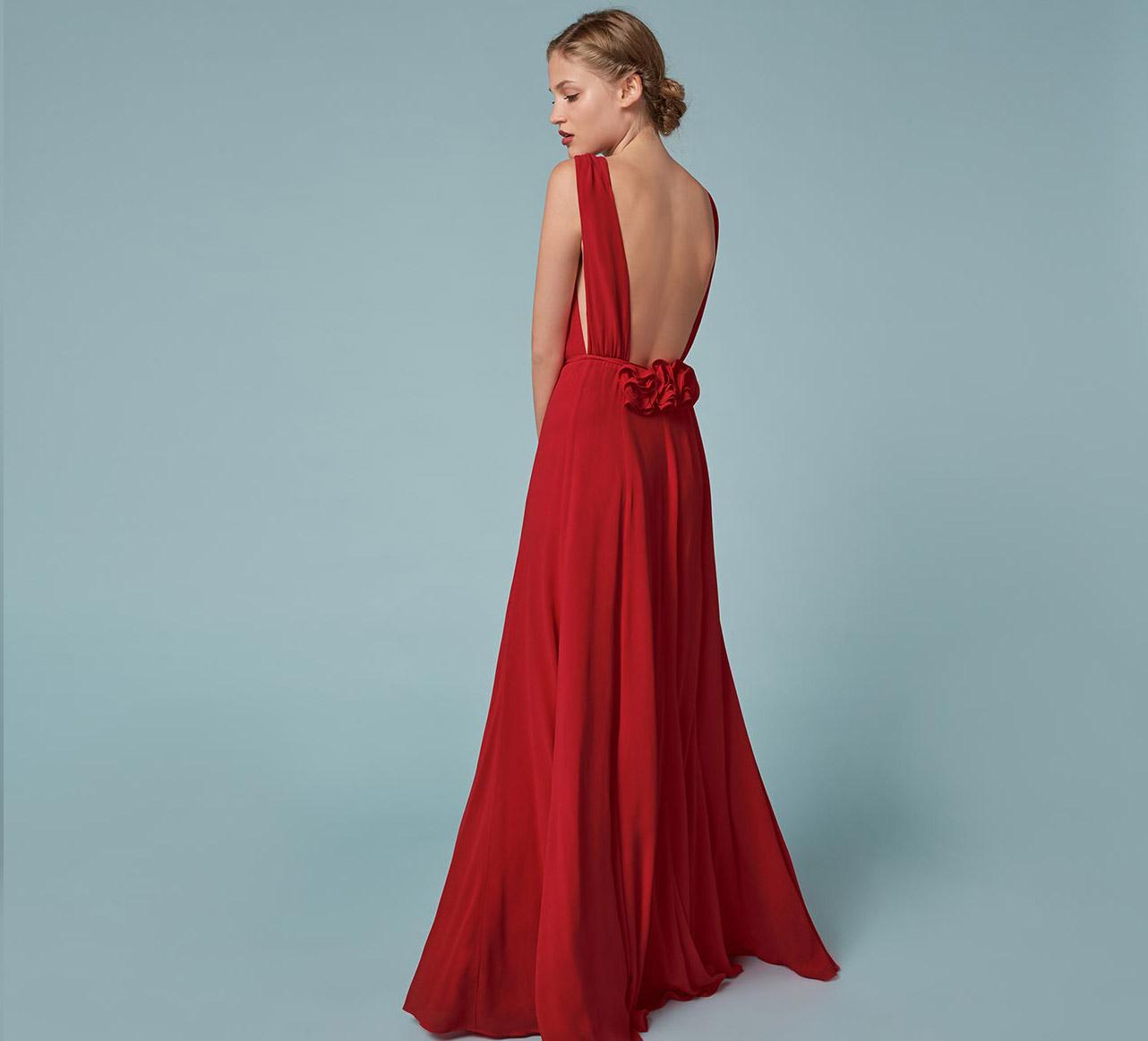 Reformation 'Anne' dress in Poinsettia,  $428