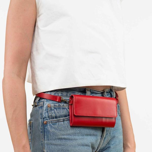 Vere Verto 'Ado' wallet in Cherry,  $200