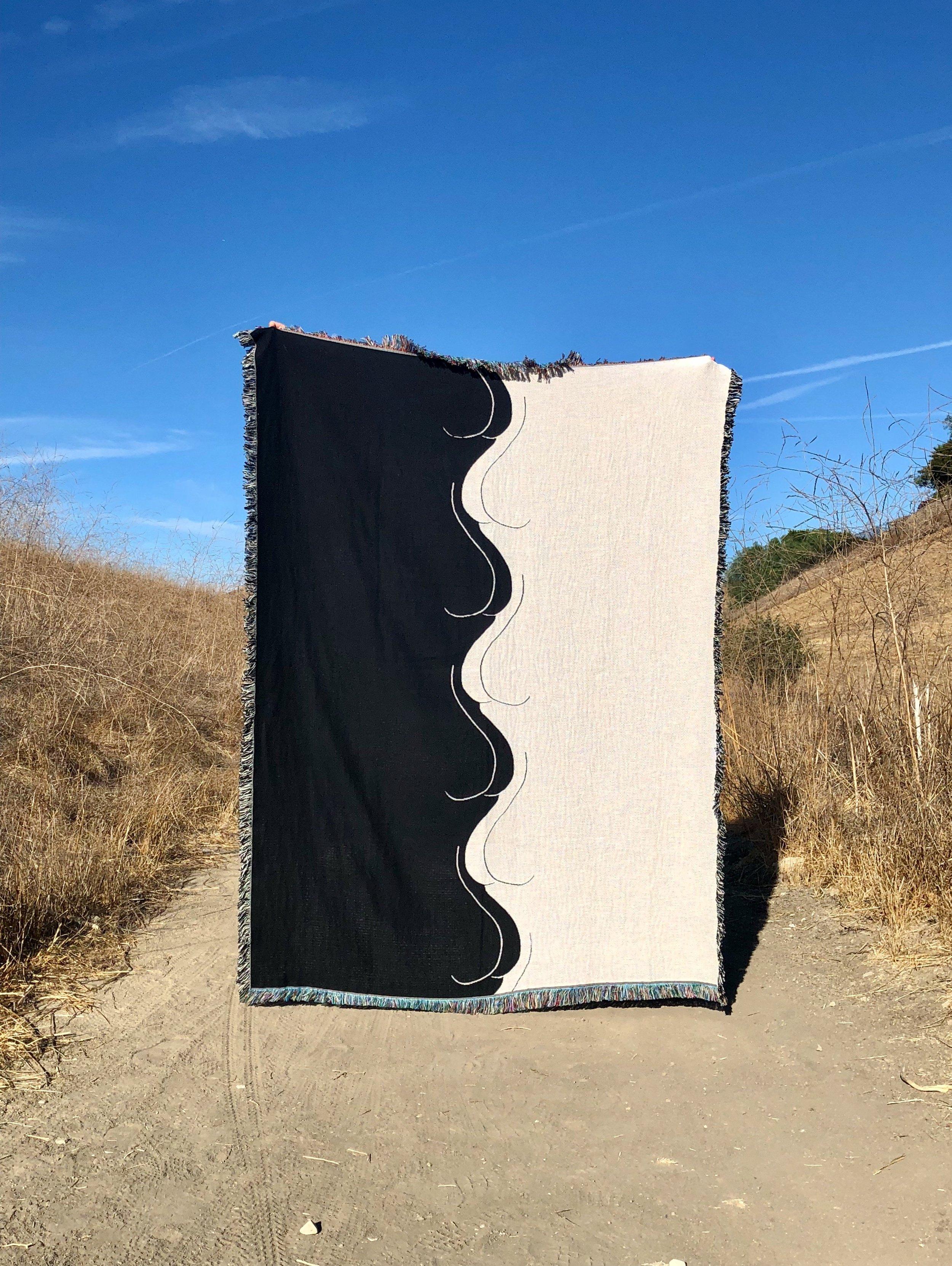 Fine Ass Lines 'Fine Ass' tapestry blanket,  $130