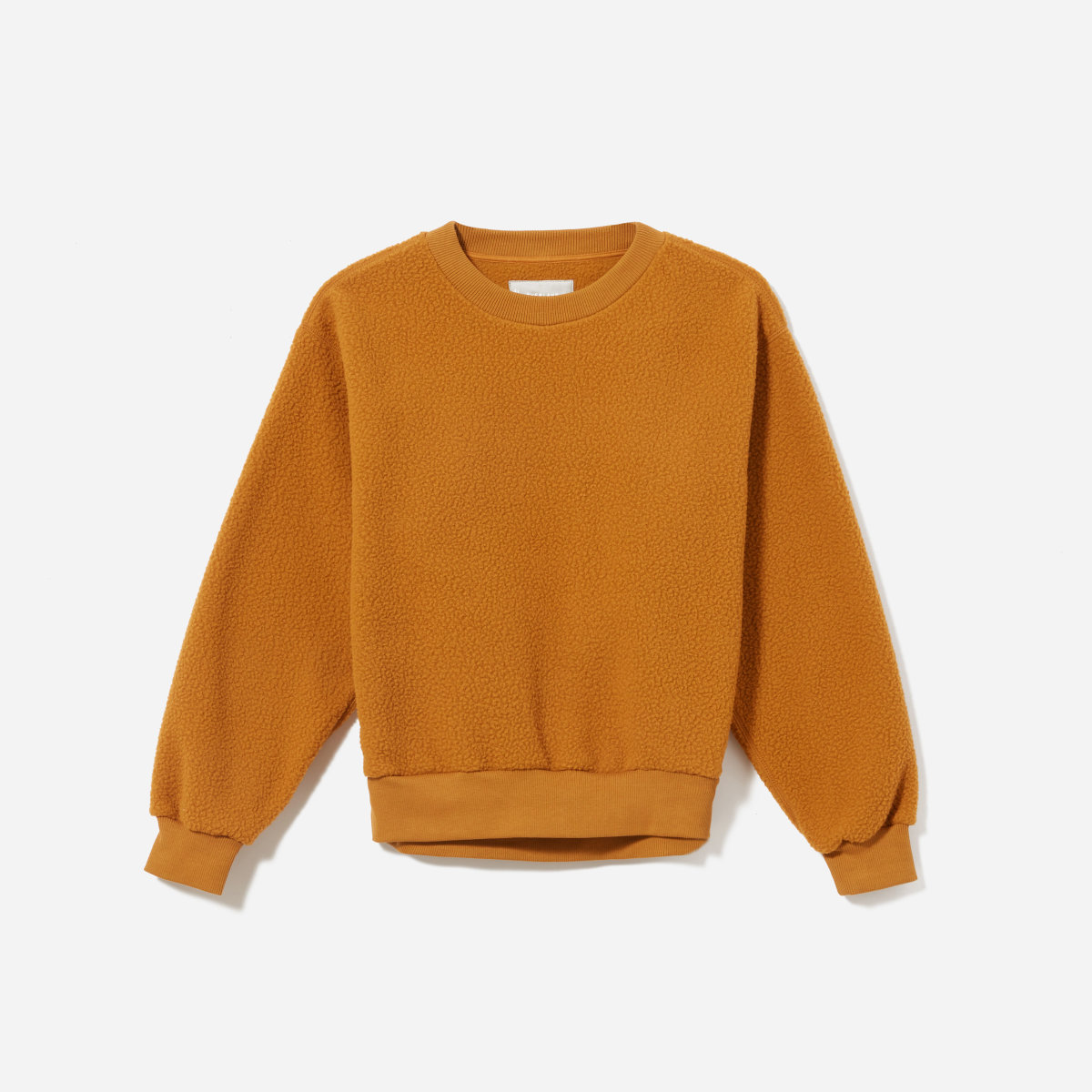 Everlane 'ReNew Fleece' sweatshirt in Golden Brown,  $55