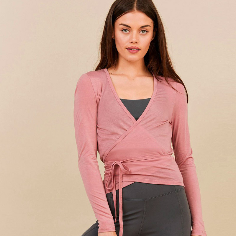 Girlfriend Collective 'Margot' wrap in Dusty Rose,  $38