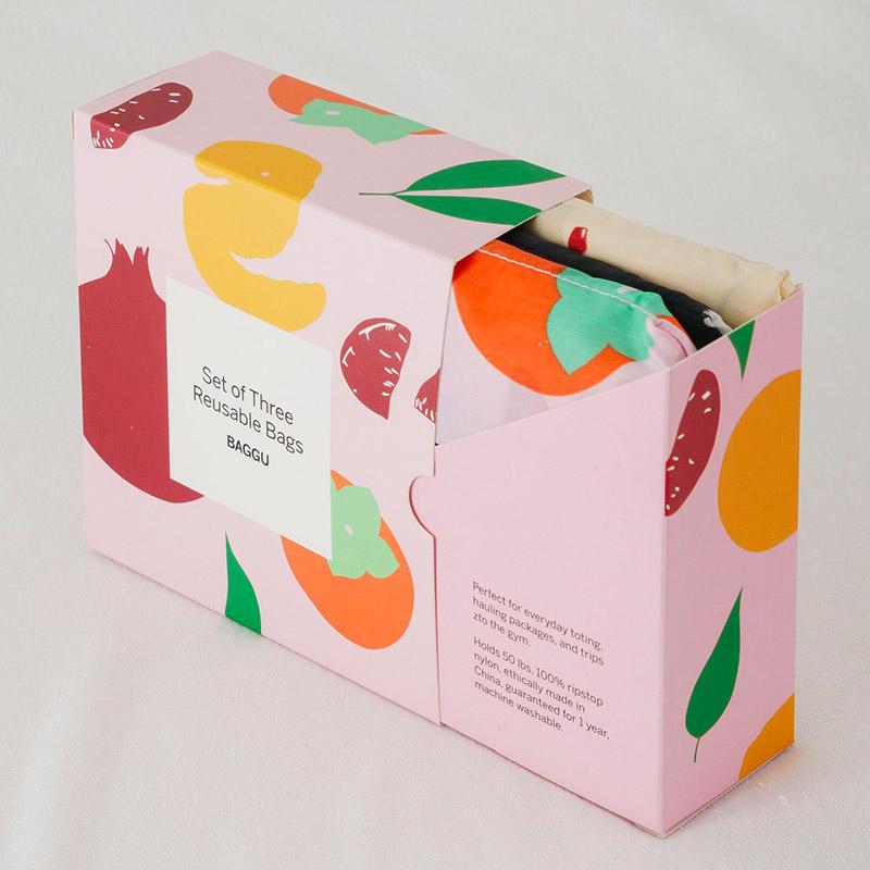 Baggu 'Flora' reusable bag set,  $30