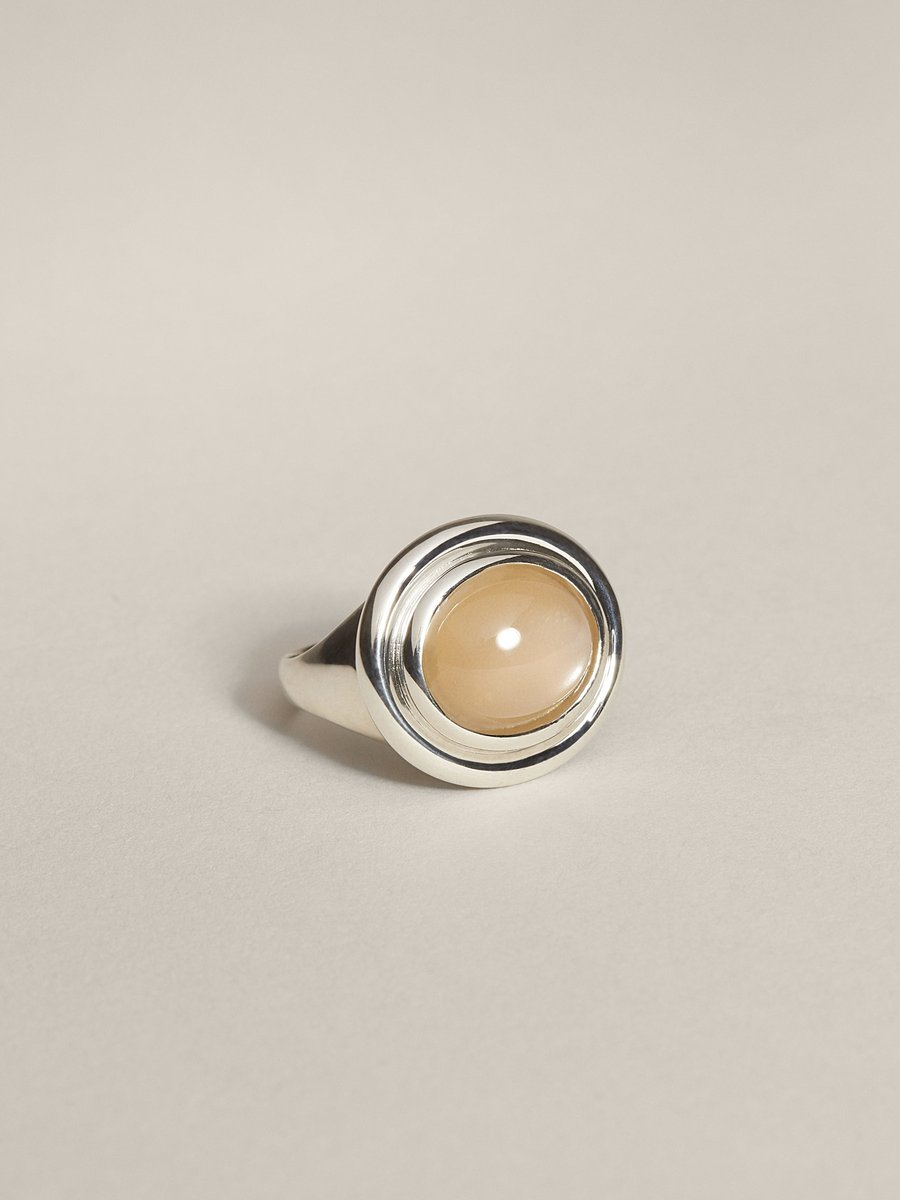 J. Hannah 'Duet' cocktail ring in peach moonstone,  $340