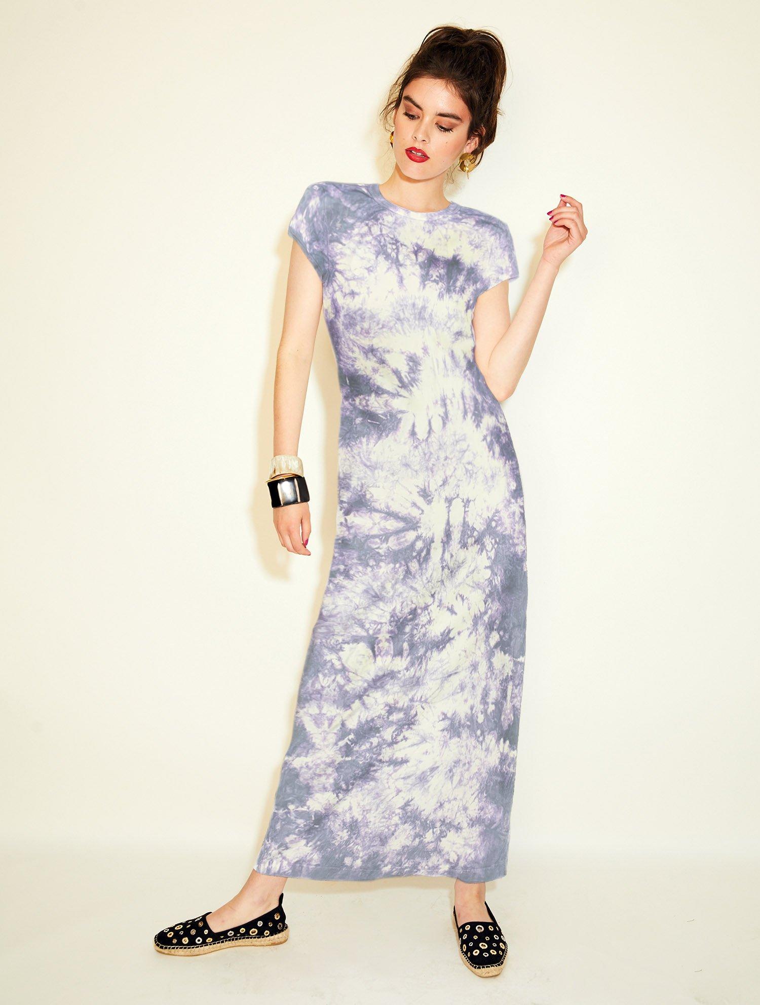 Monogram Studio 'Cloud Tie Dye' cap sleeve dress,  $98