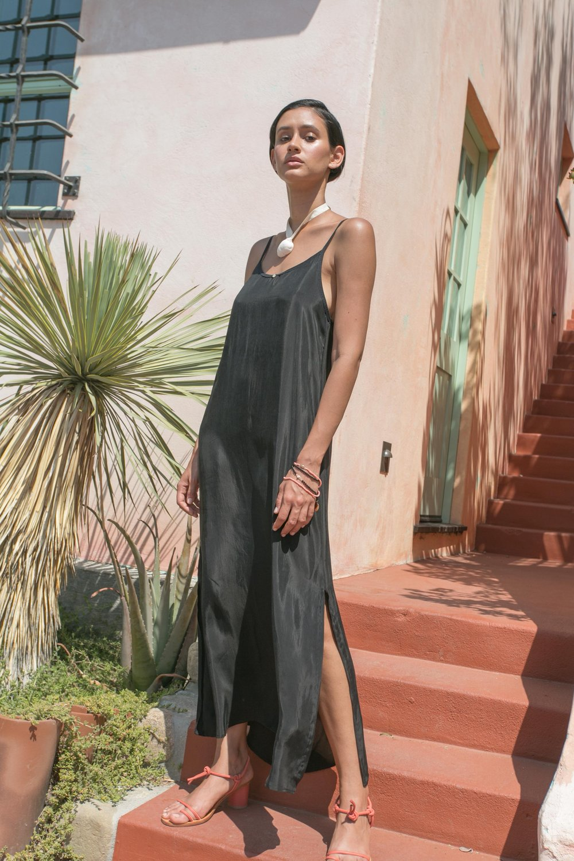 Botanica Workshop 'Vera' dress in Black,  $128