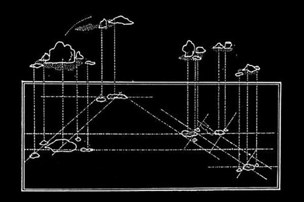 Compositional trajectories, ryo'an-ji temple, kyoto