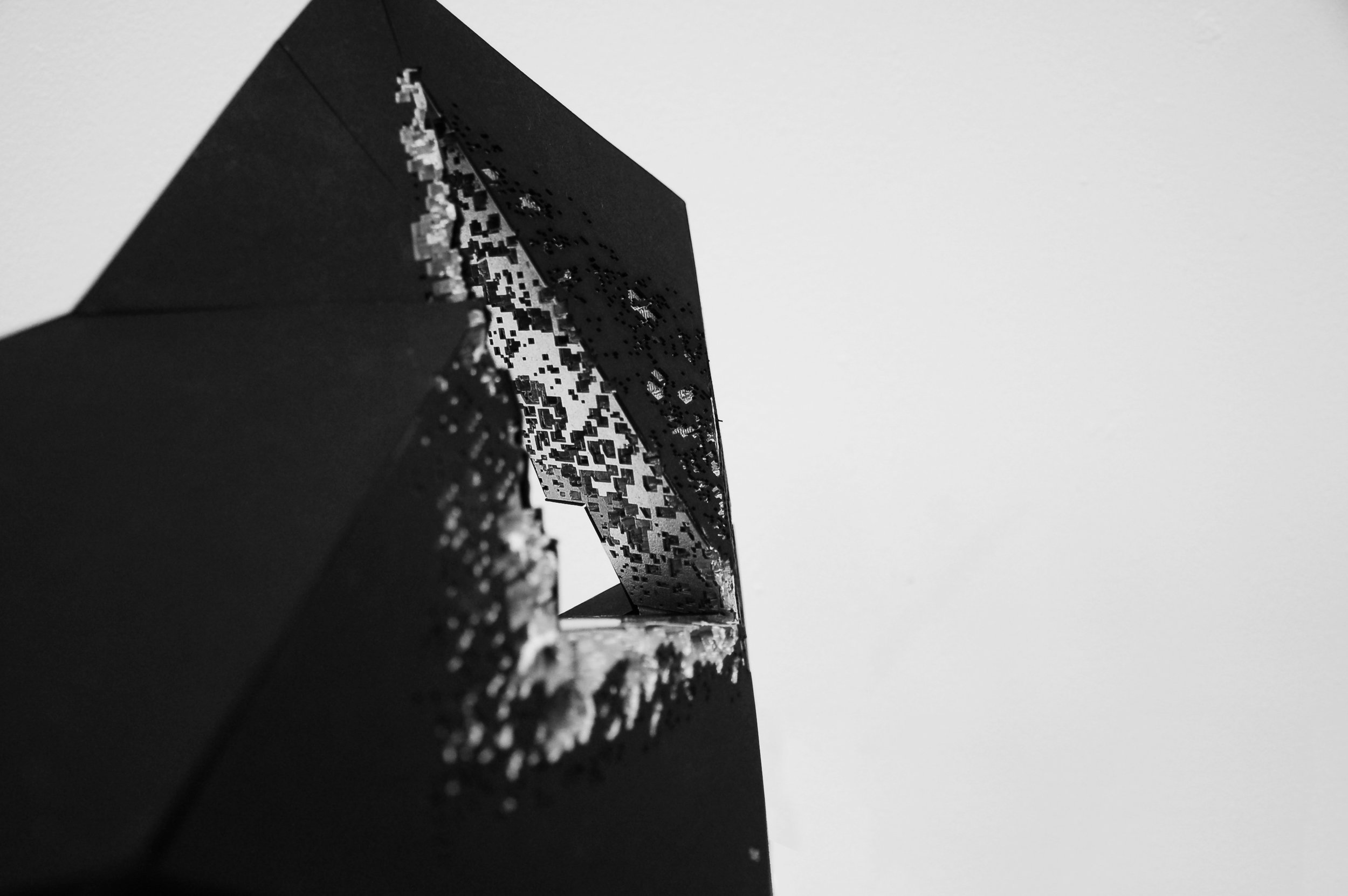 study model of the void and erosions