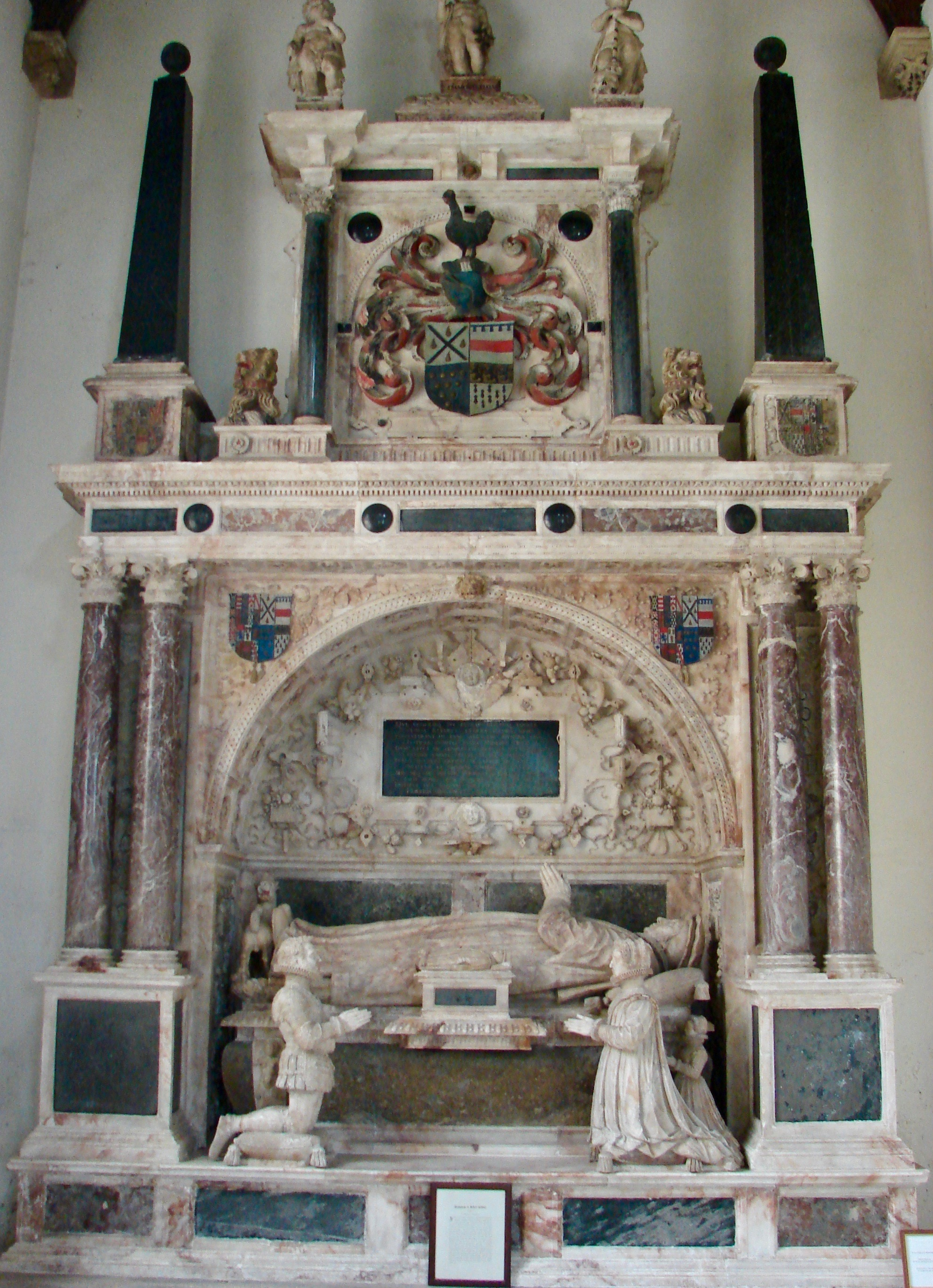 Kelway Monument in the Church of St Peter & St Paul, Exton, Rutland. Image by Catherine Snowball.