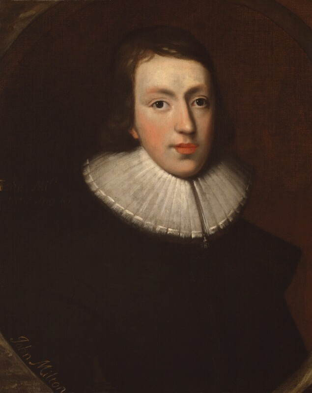 John Milton by an unknown artist c.1629, NPG4222. Reproduced under the creative commons licence from the National Portrait Gallery.