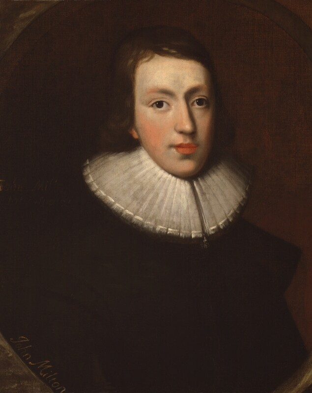 John Milton, by unknown artist, National Portrait Gallery, NPG4222. Reproduced under a creative commons license.