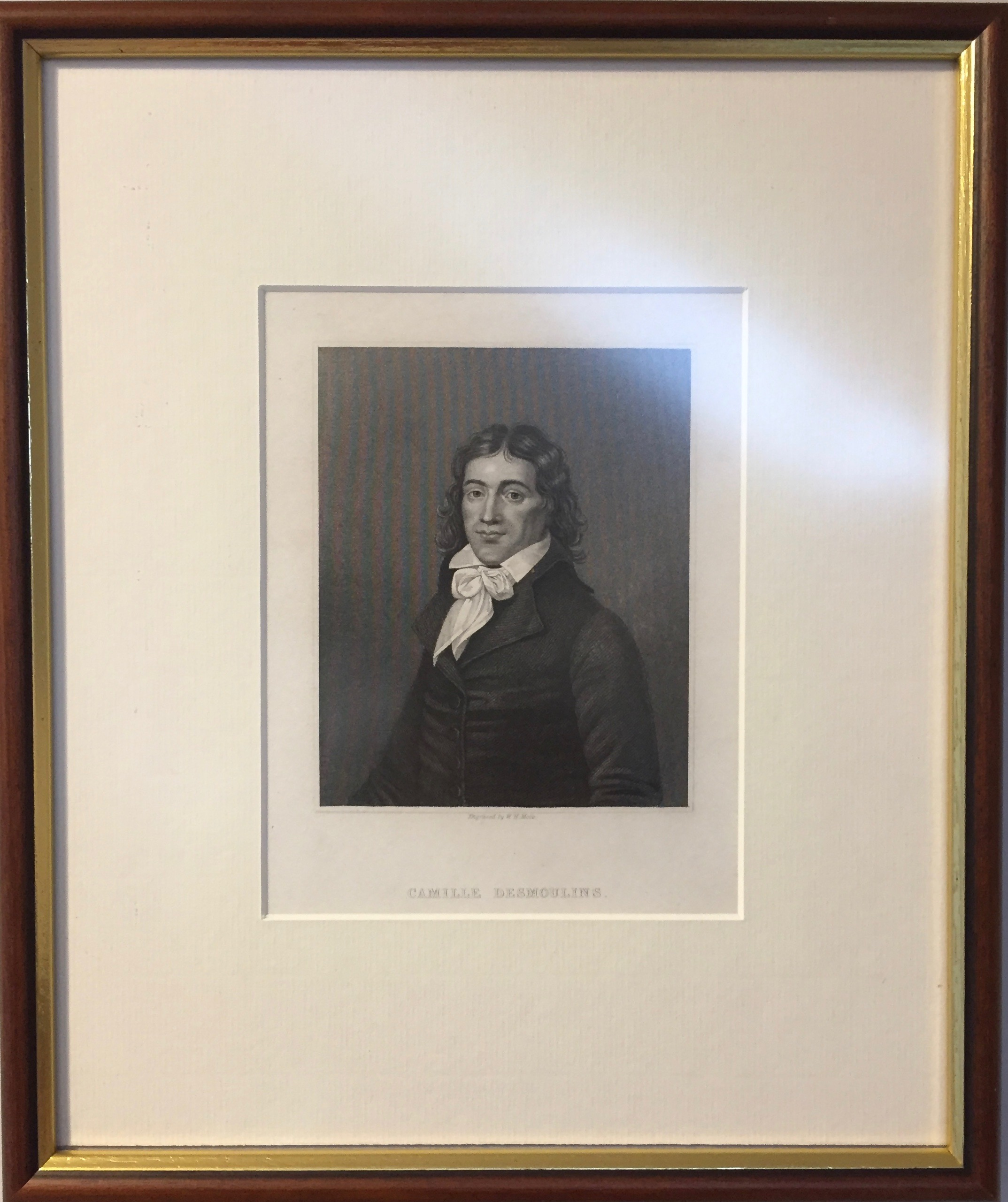 Portrait of Camille Desmoulins. Private copy. Image by Rachel Hammersley.