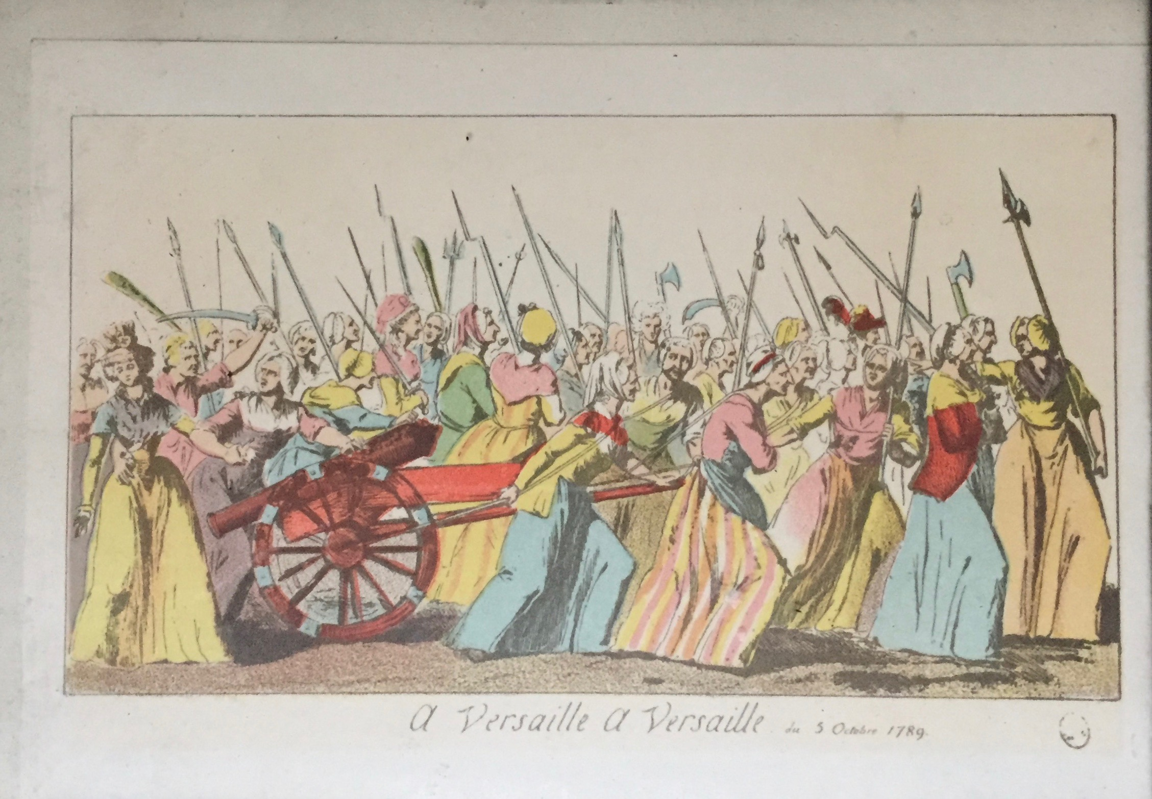 'A Versaille, a Versaille, du 5 Octobre 1789'. Image from author's own collection.