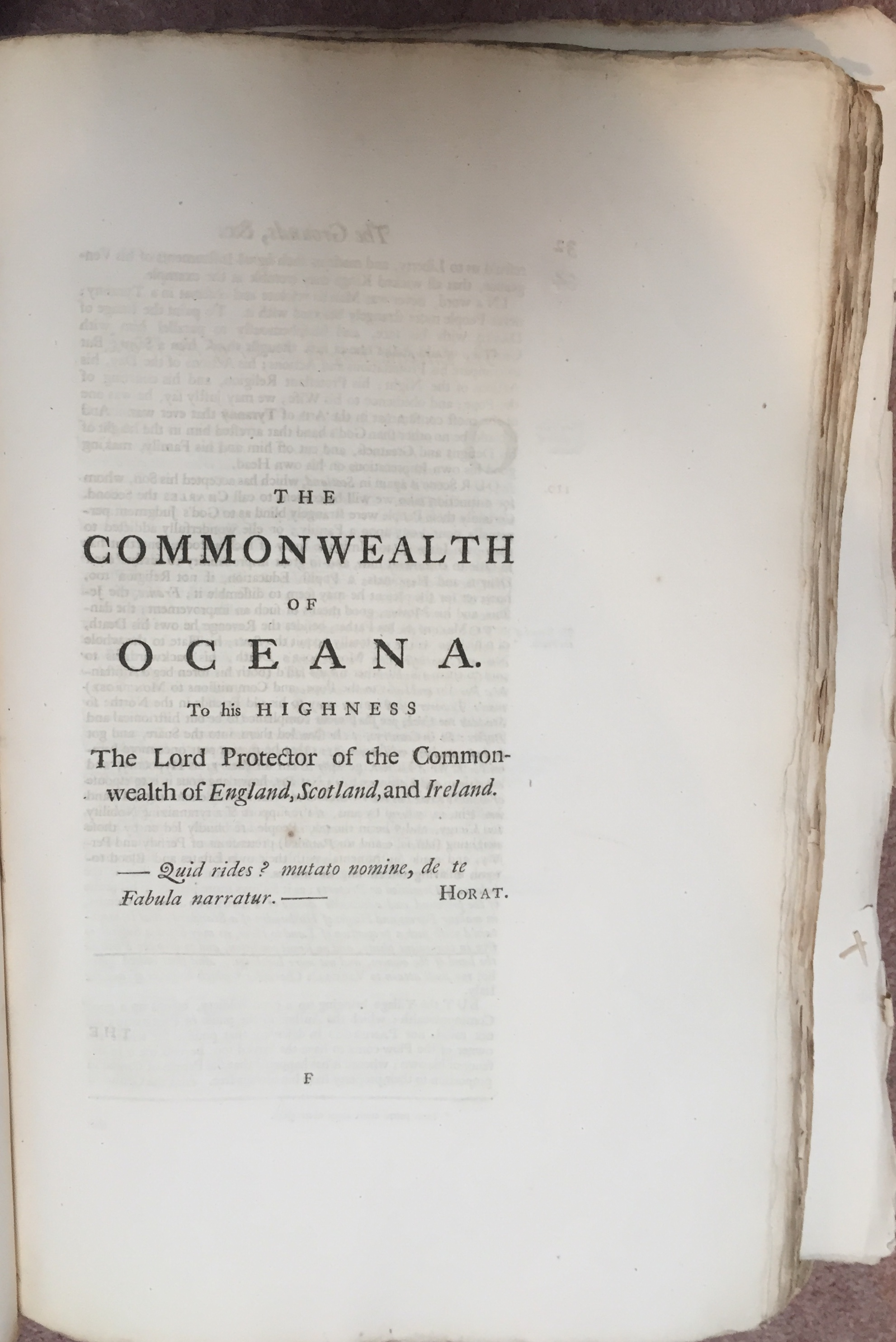 Frontispiece to James Harrington,  The Commonwealth of Oceana  in  The Oceana and Other Works of James Harrington , ed. John Toland (London, 1737). Private copy.