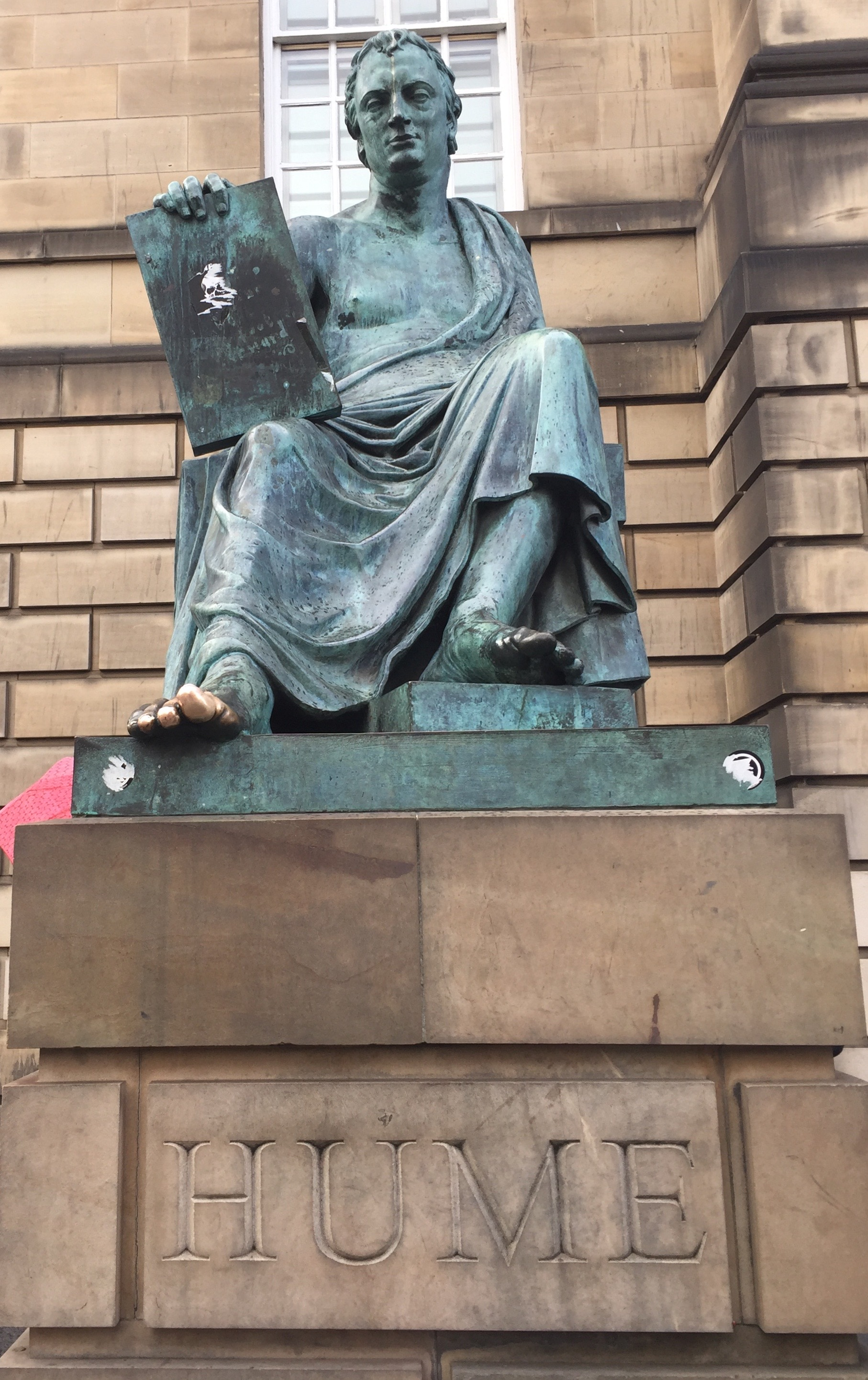 Statue of David Hume on the Royal Mile in Edinburgh.