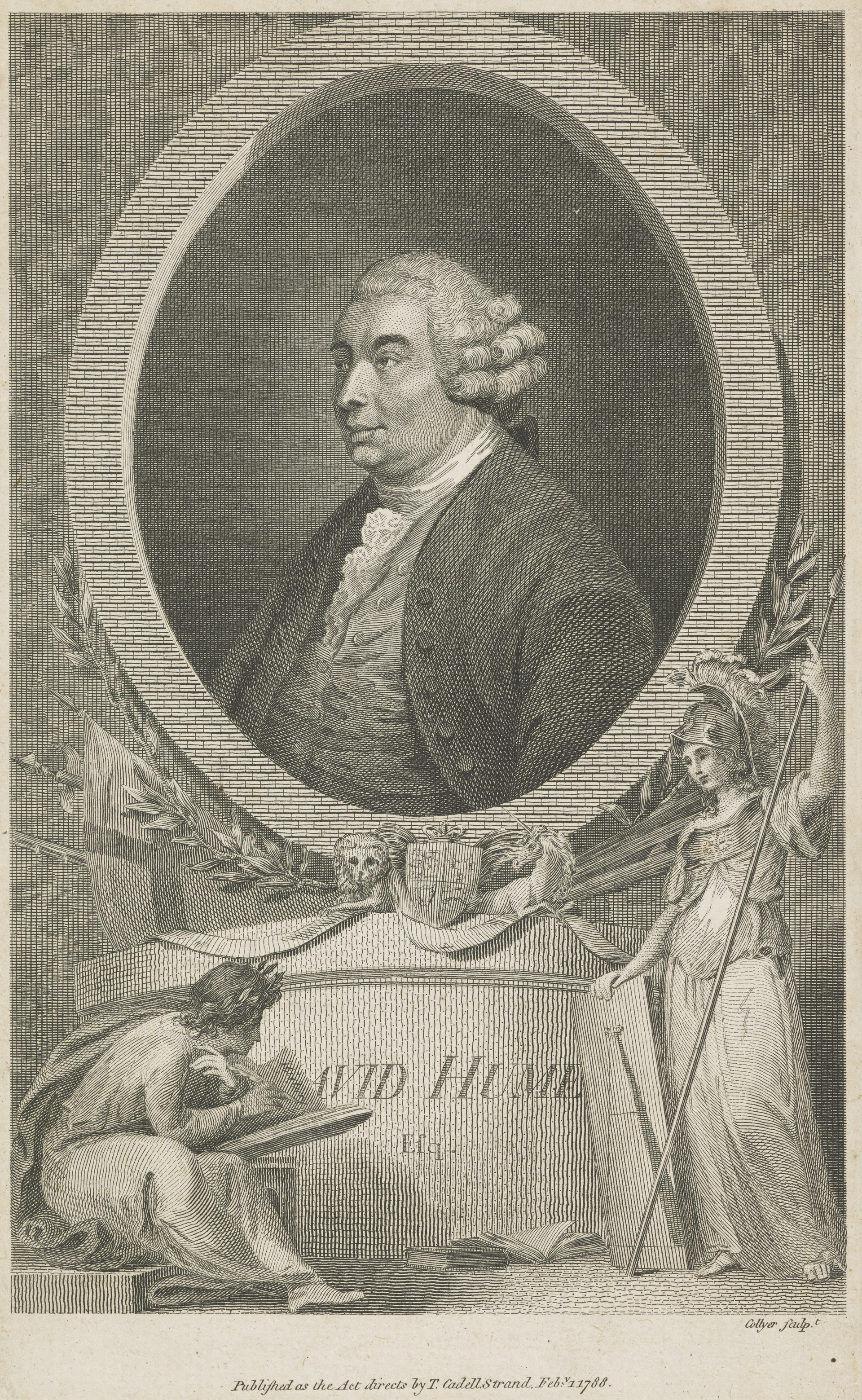 Joseph Collyer, portrait of David Hume, Scottish National Portrait Gallery SP IV 7711.