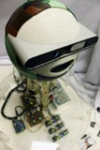 Kinba the robot receptionist