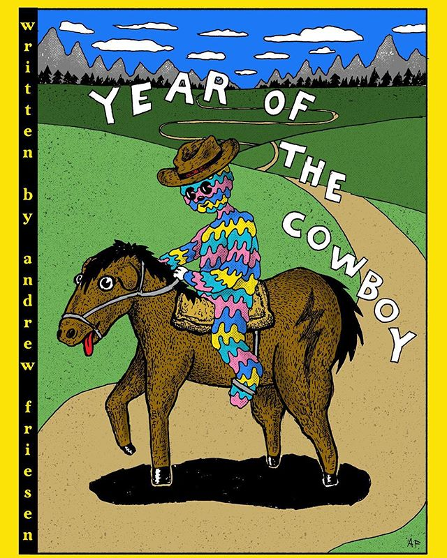 My next story: YEAR OF THE COWBOY. Here is the cover. Coming soonish, going to take my time with it during the next few months. Stay tuned!! #cowboy #comic #cartoon #character #goopdude #design #drawing #horse #art #story