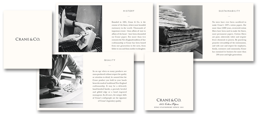 Crane & Co. brand booklet